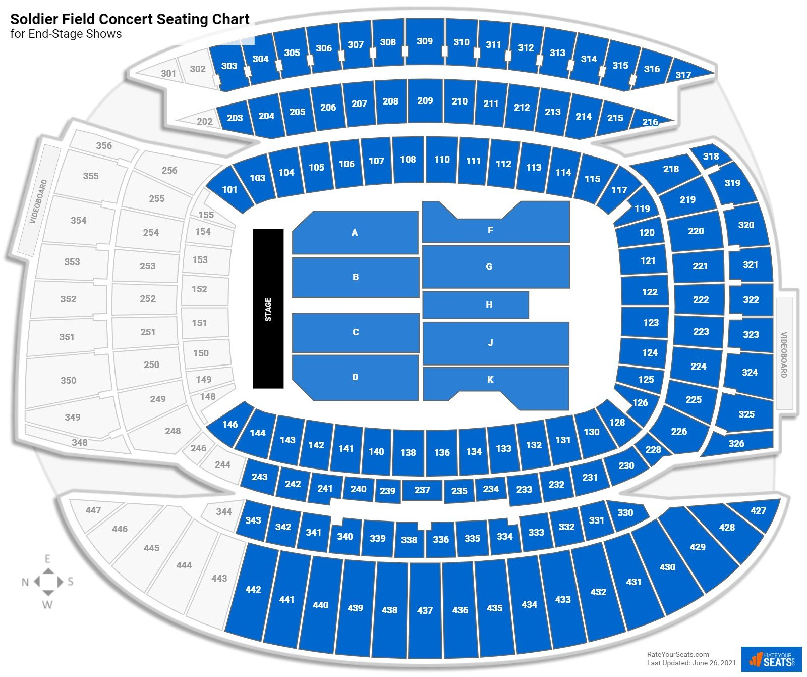 Soldier Field Seating Chart for Concerts