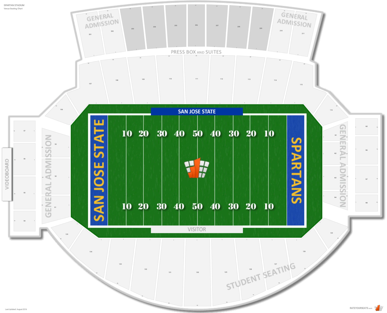 Cefcu Stadium San Jose State Seating Guide Rateyourseatscom