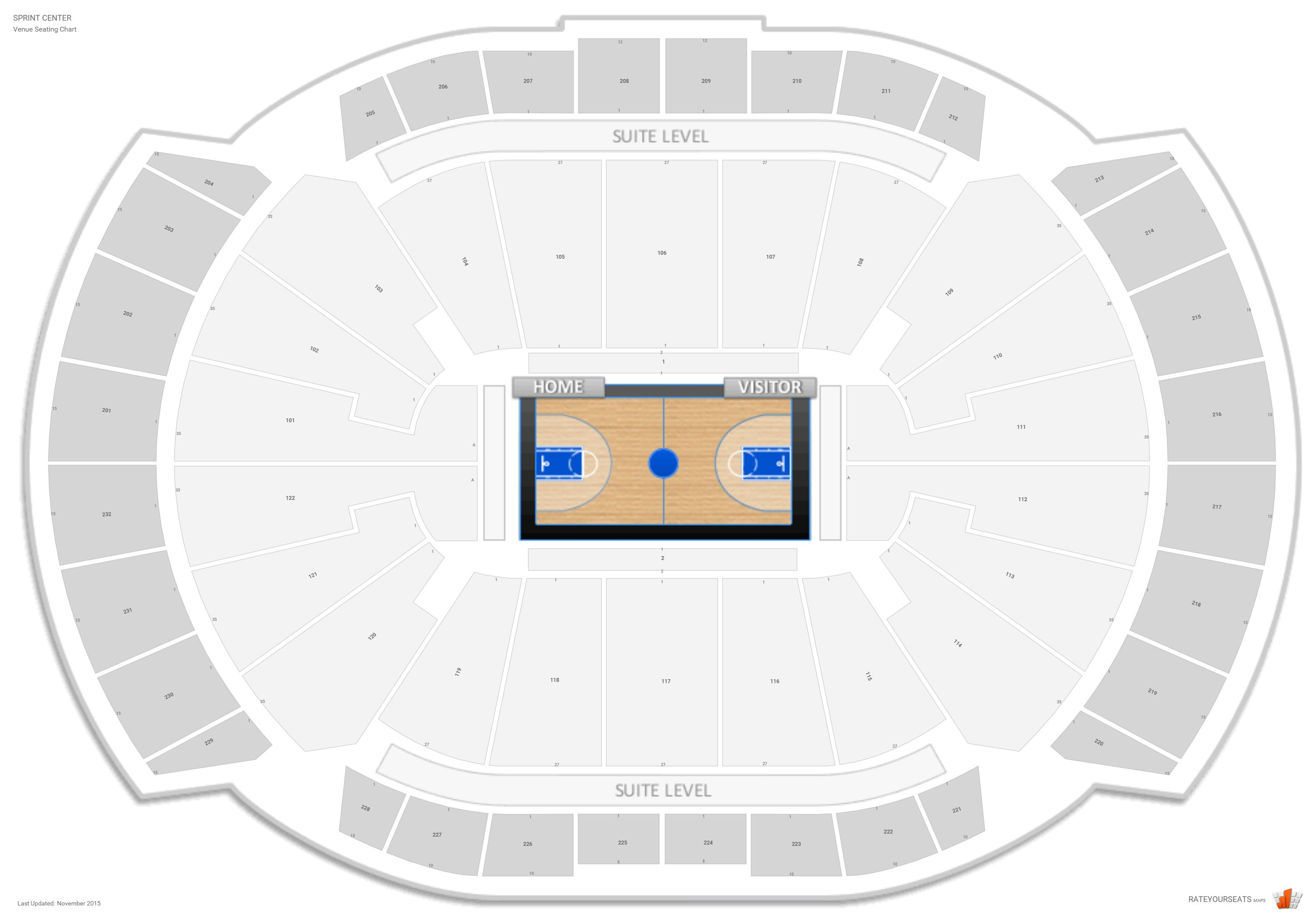 Sprint Center Seating Chart With Row Numbers