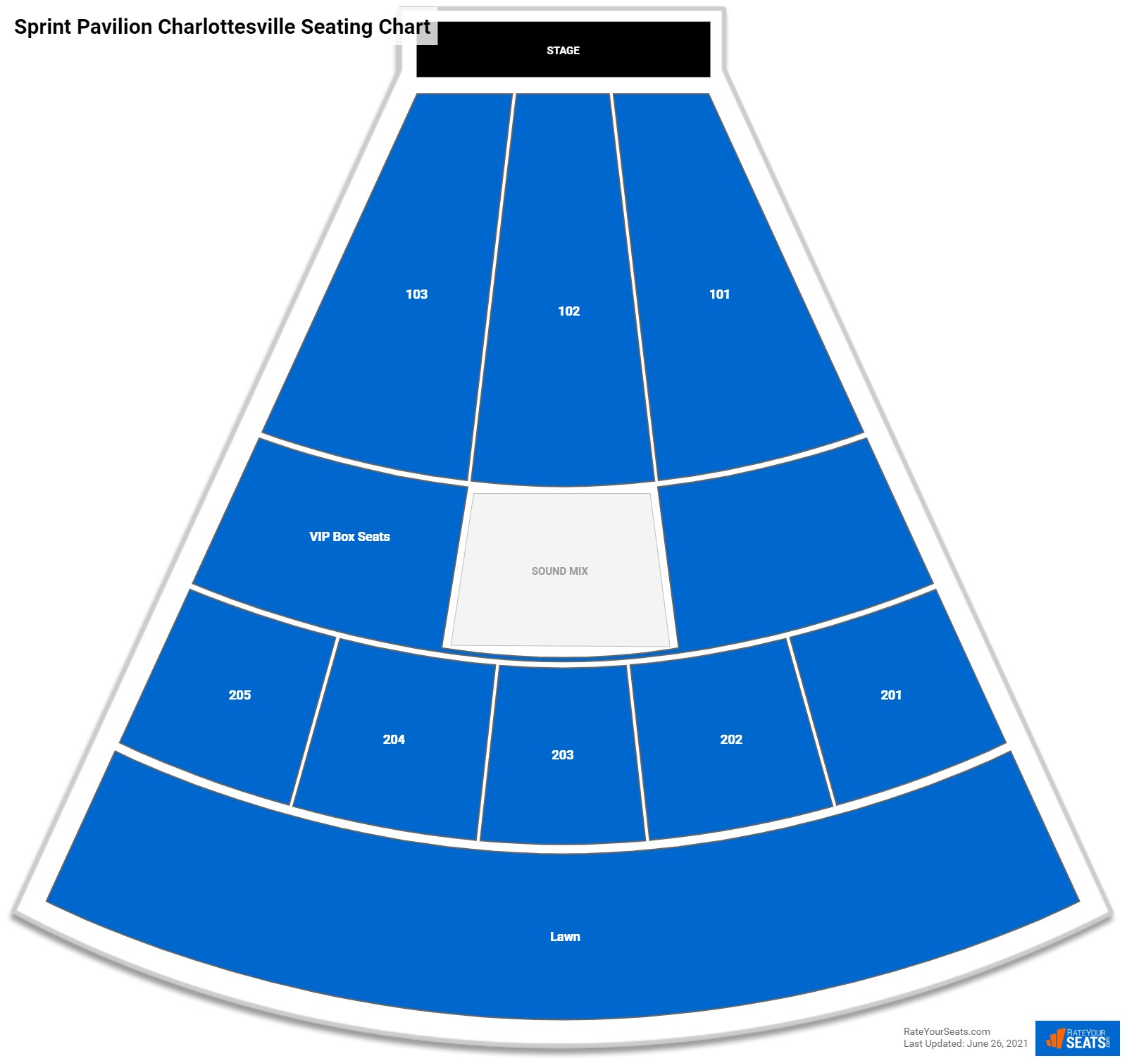Sprint Pavilion Charlottesville Seating Chart