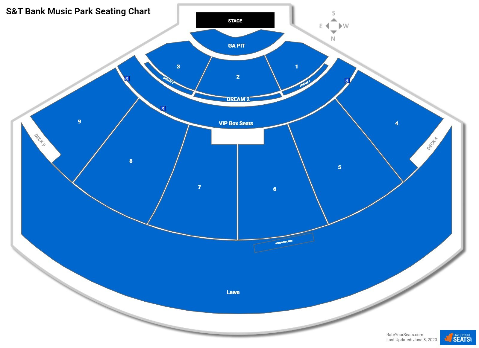 The Pavilion at Star Lake Seating Chart