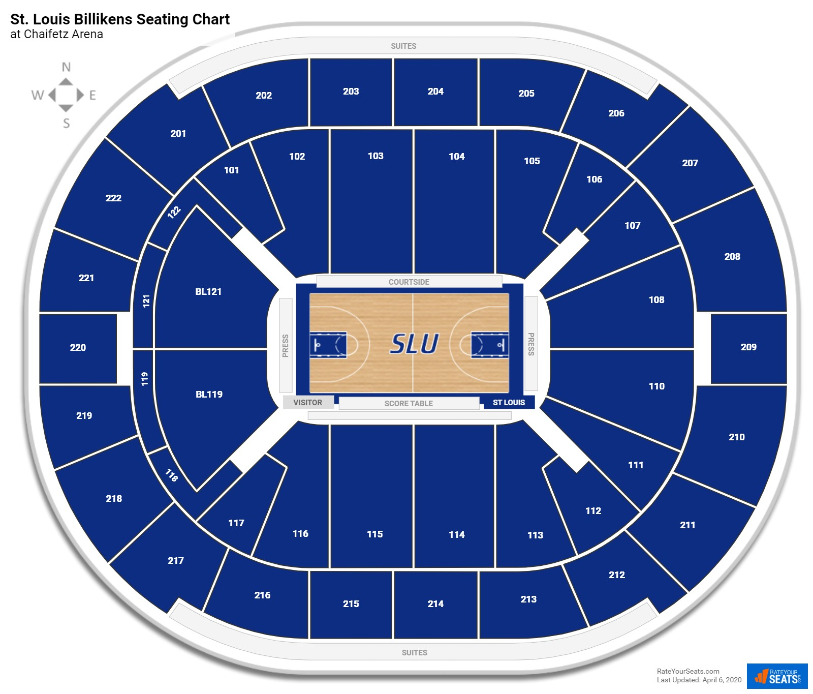 Saint Louis Basketball Seating Chart