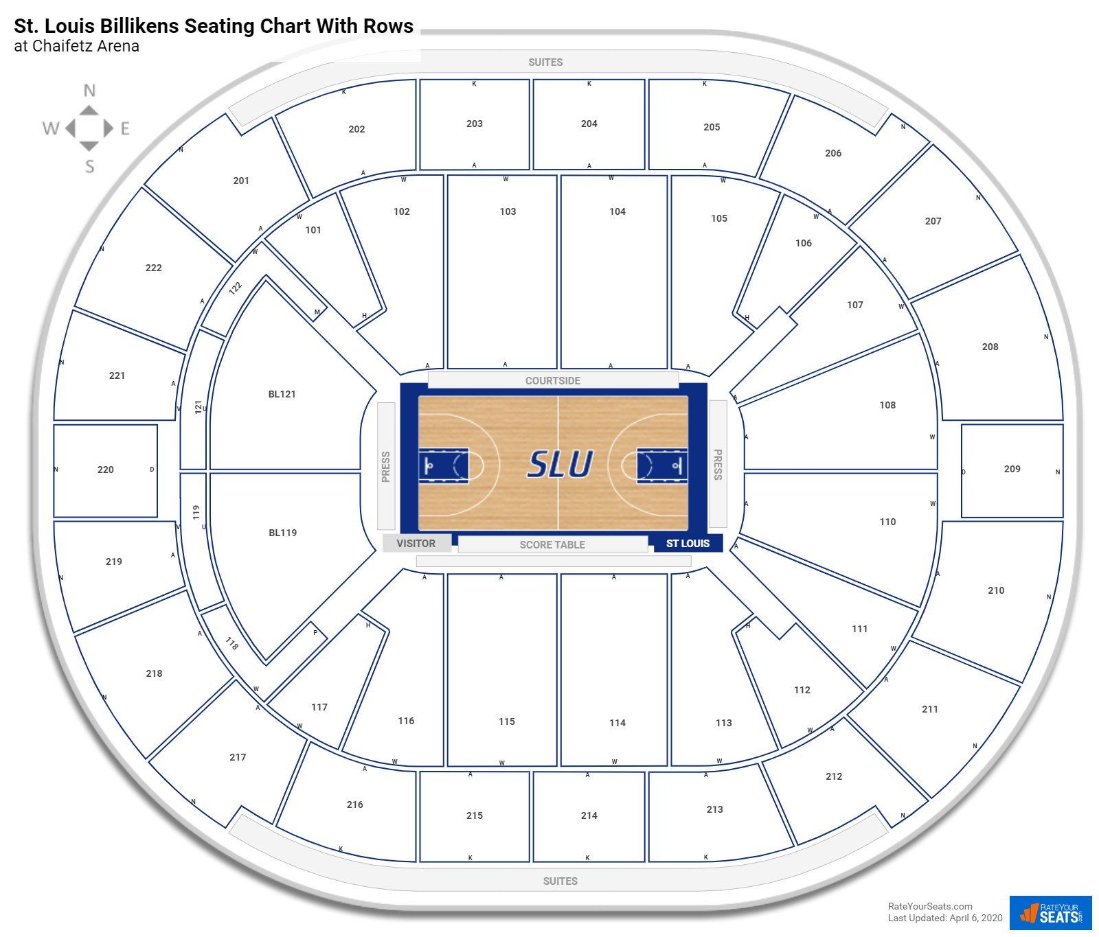 Chaifetz Arena seating chart with rows basketball