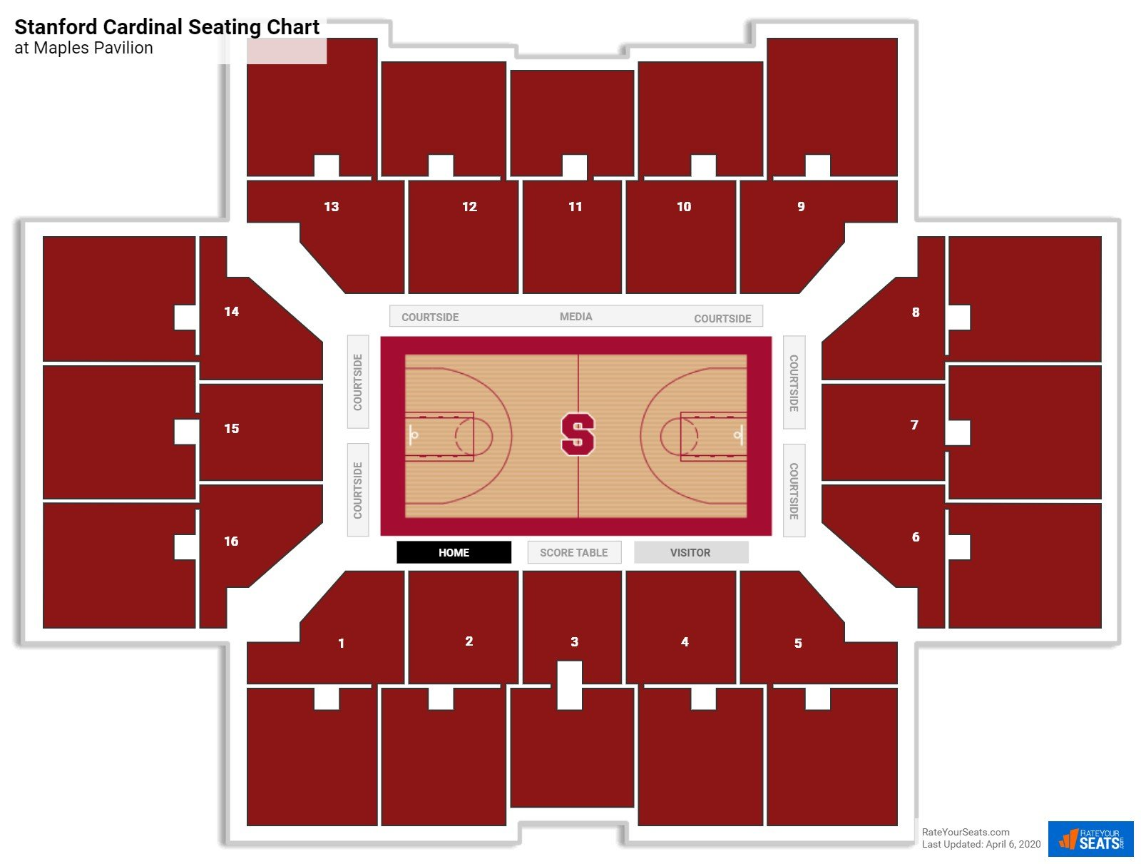 Stanford Basketball Seating Chart