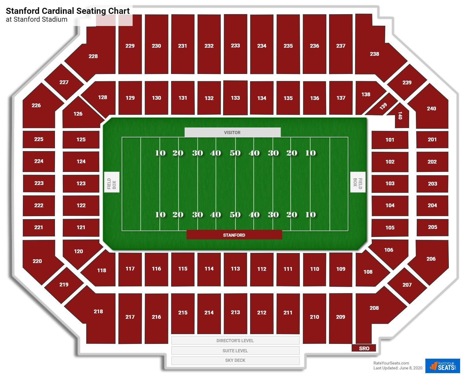 Stanford Football Seating Chart