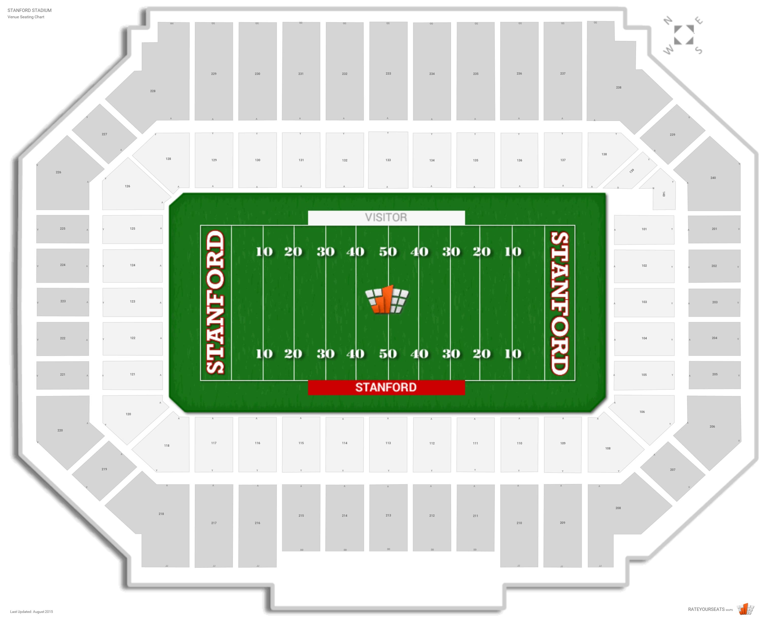 Stanford stadium stanford seating guide rateyourseats com