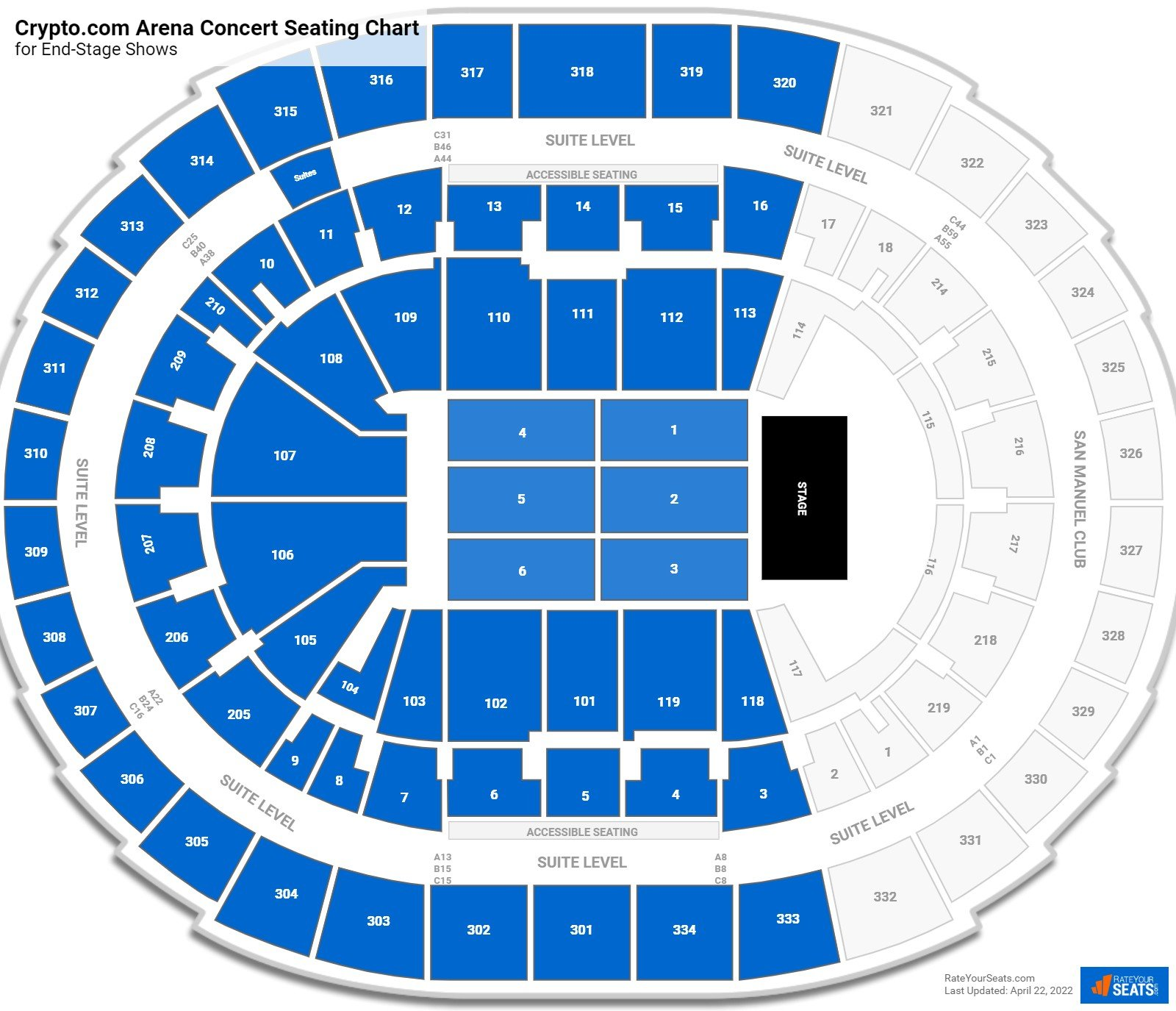 Staples Center Seating Chart for Concerts