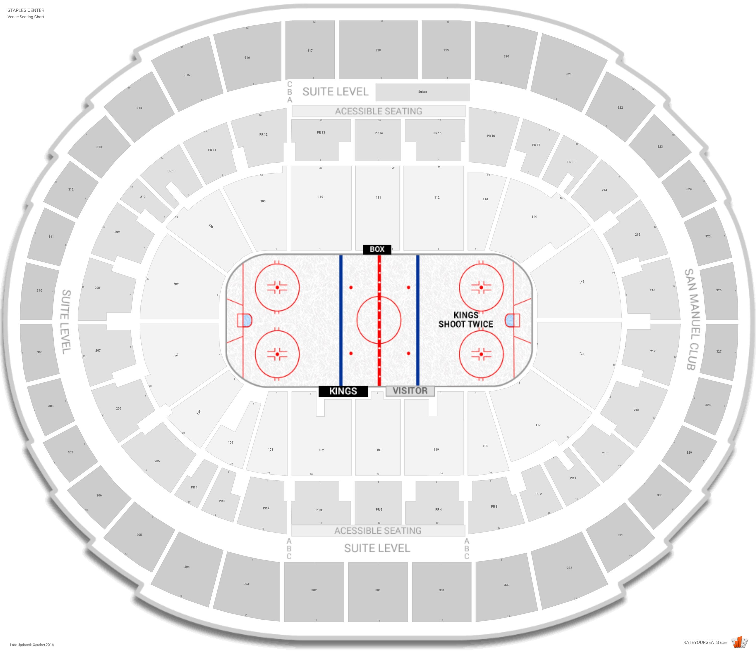 Staples Center Seating Chart With Row Numbers