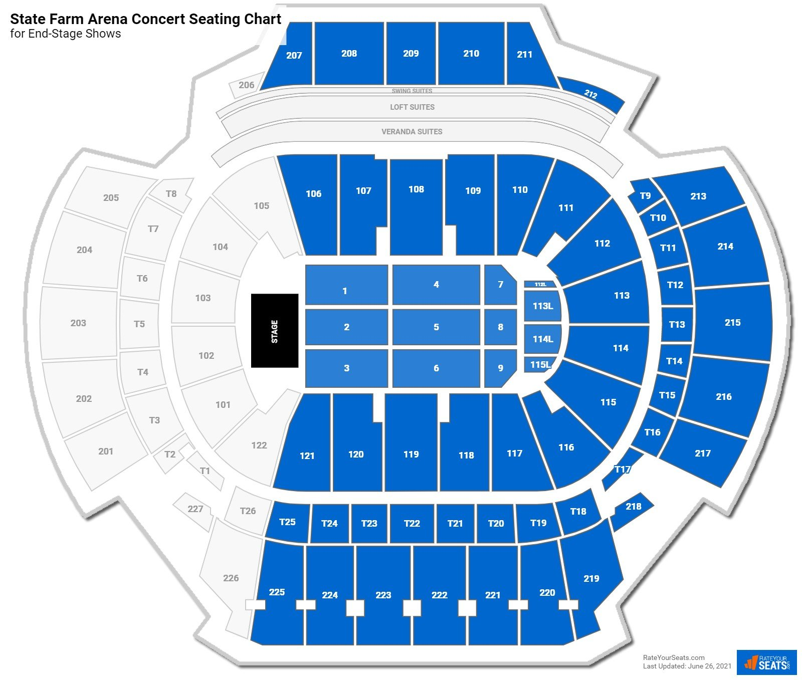 State Farm Arena Seating Chart for Concerts