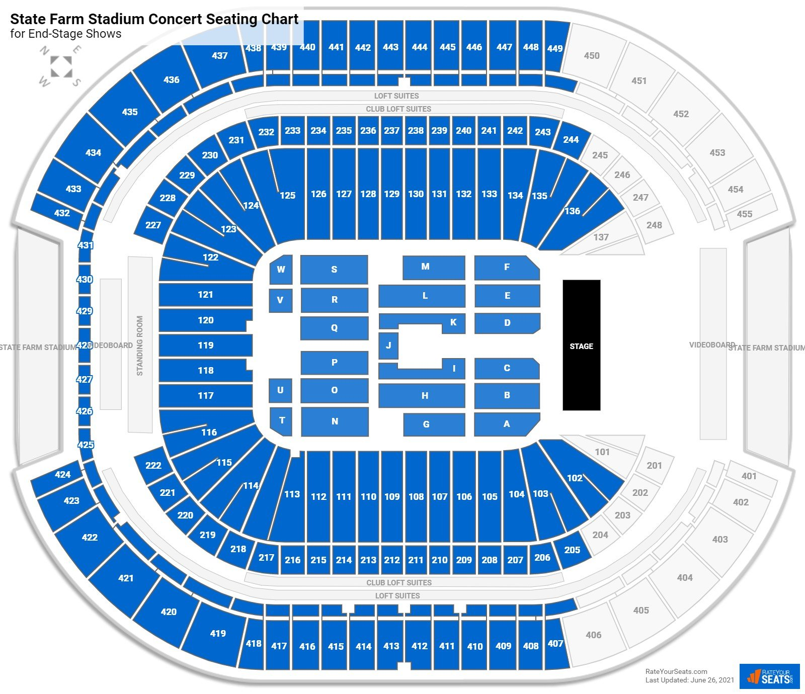 State Farm Stadium Seating Chart for Concerts
