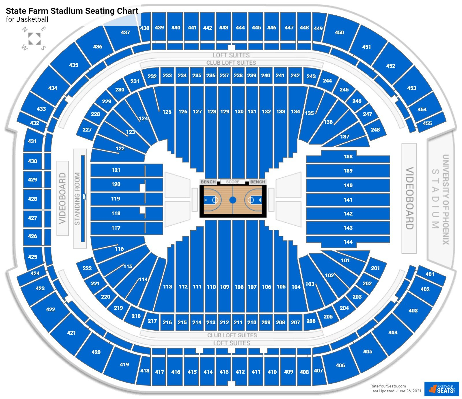 State Farm Stadium Seating Chart for Basketball