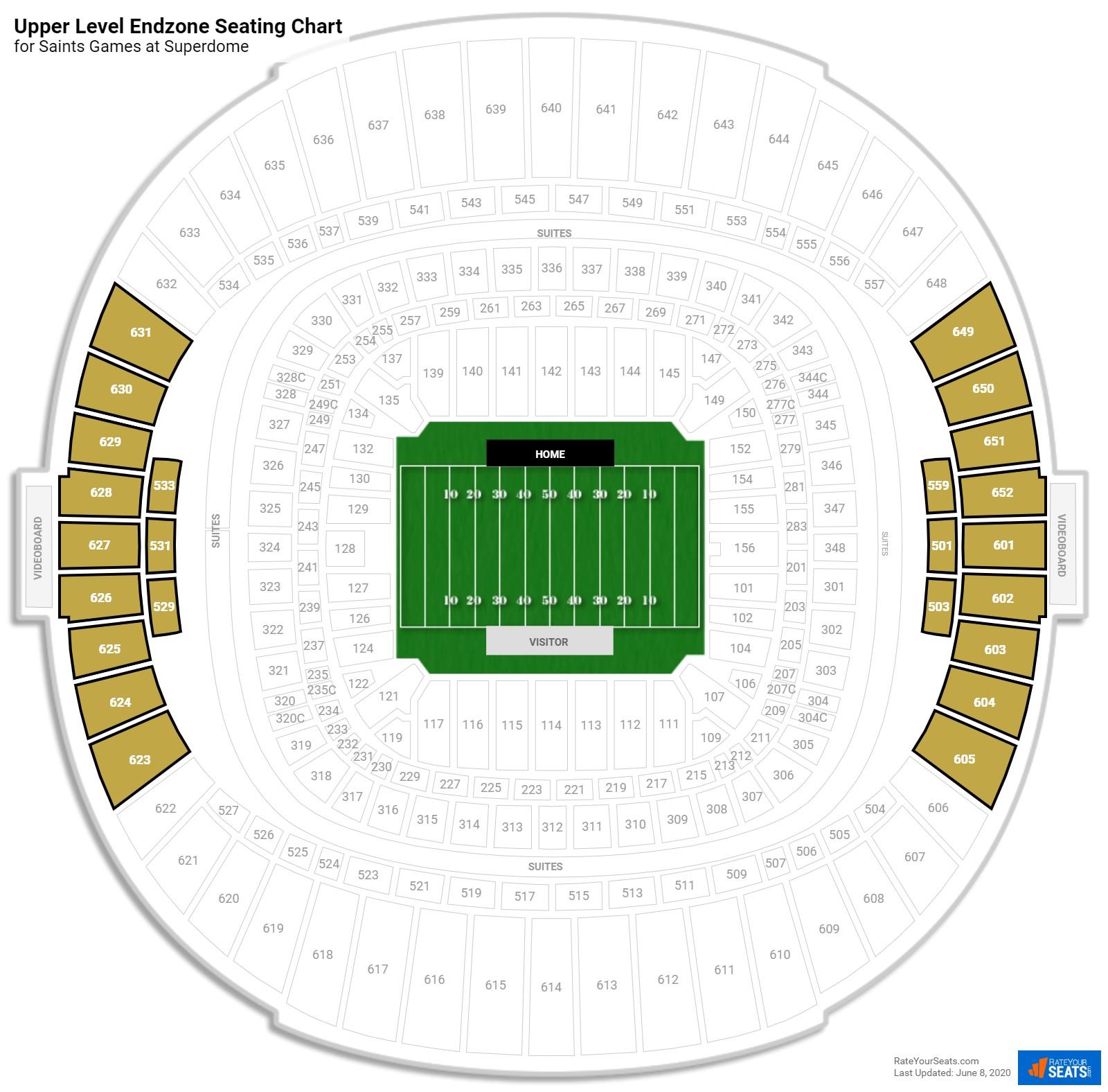 Louisiana superdome virtual seating chart for Mercedes benz superdome 3d seating chart