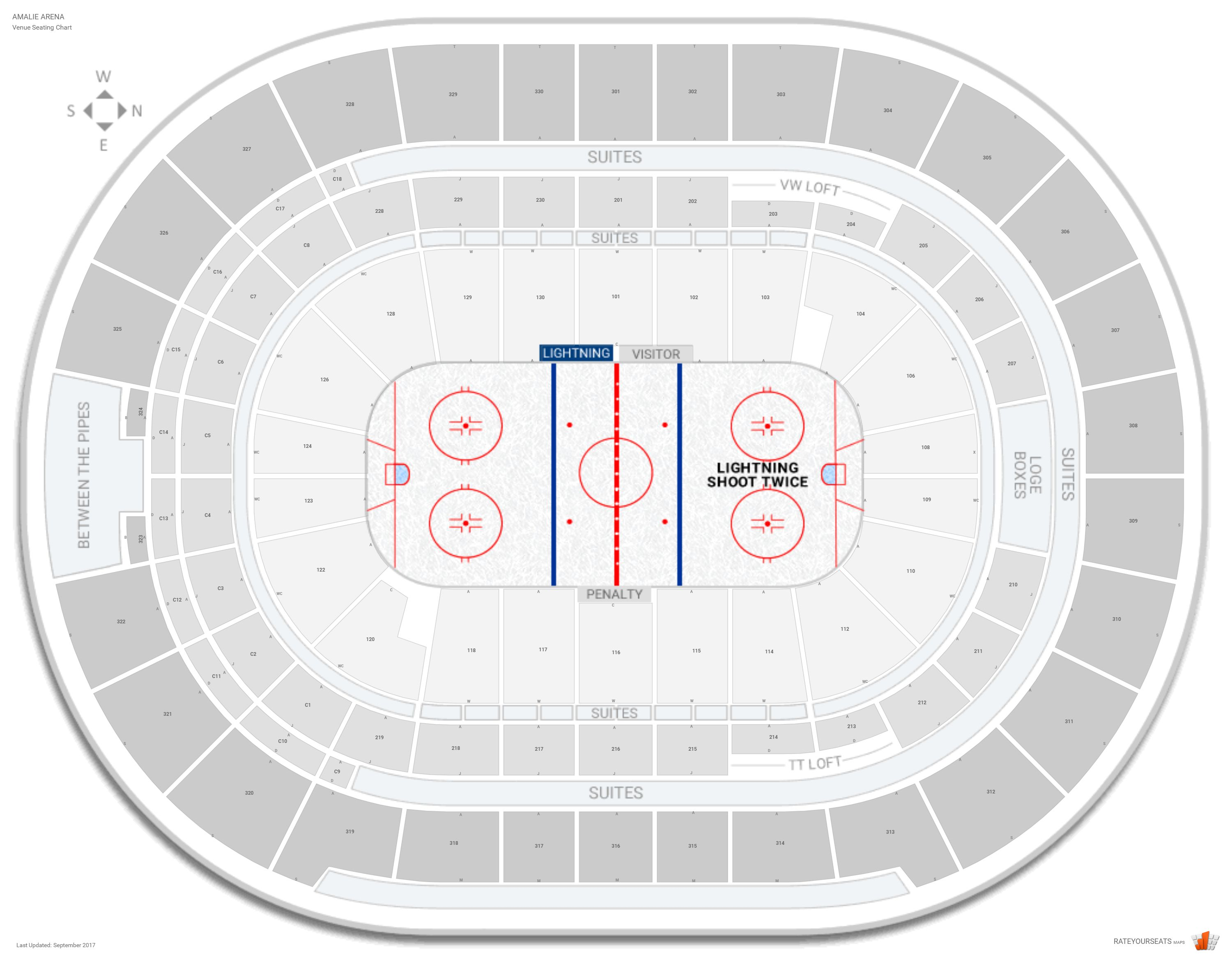 Amalie Arena Seating Chart With Row Numbers
