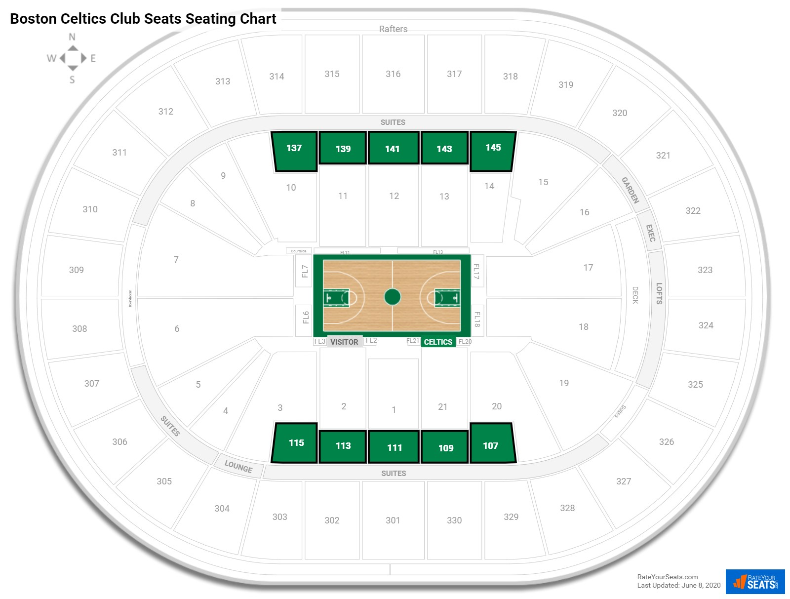 Club And Premium Seating At Td Garden Rateyourseats Com