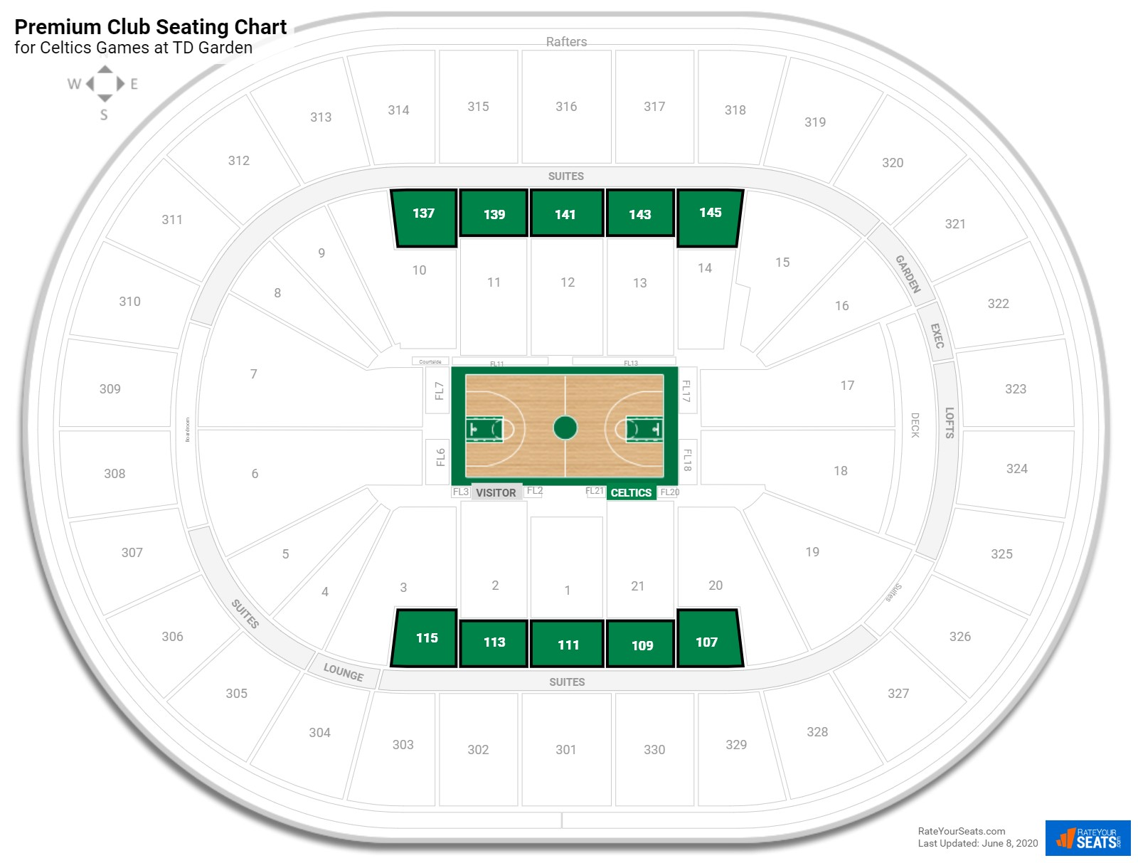 Premium Club Td Garden Basketball Seating