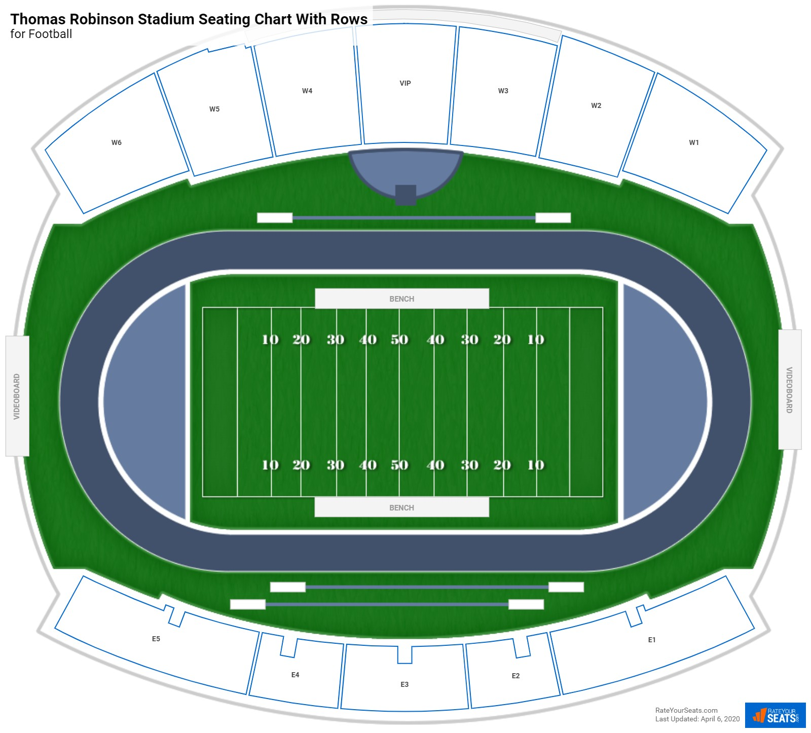 Thomas Robinson Stadium seating chart with rows