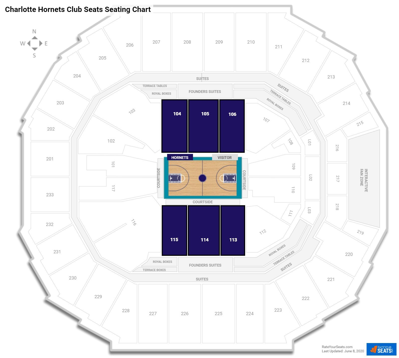 Spectrum Center (Time Warner Cable Arena)  seating chart