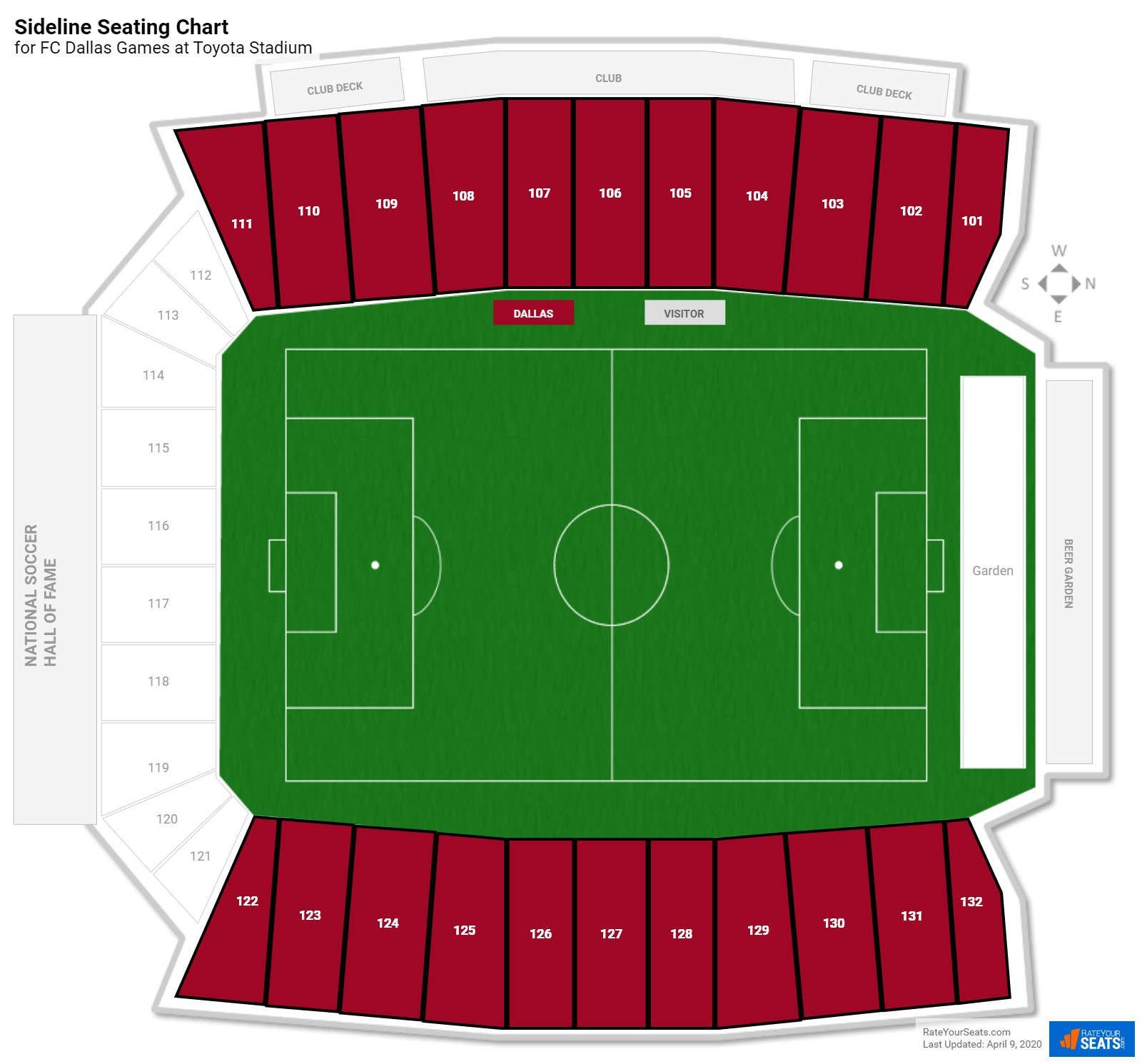 Toyota Stadium Sideline Seating Chart