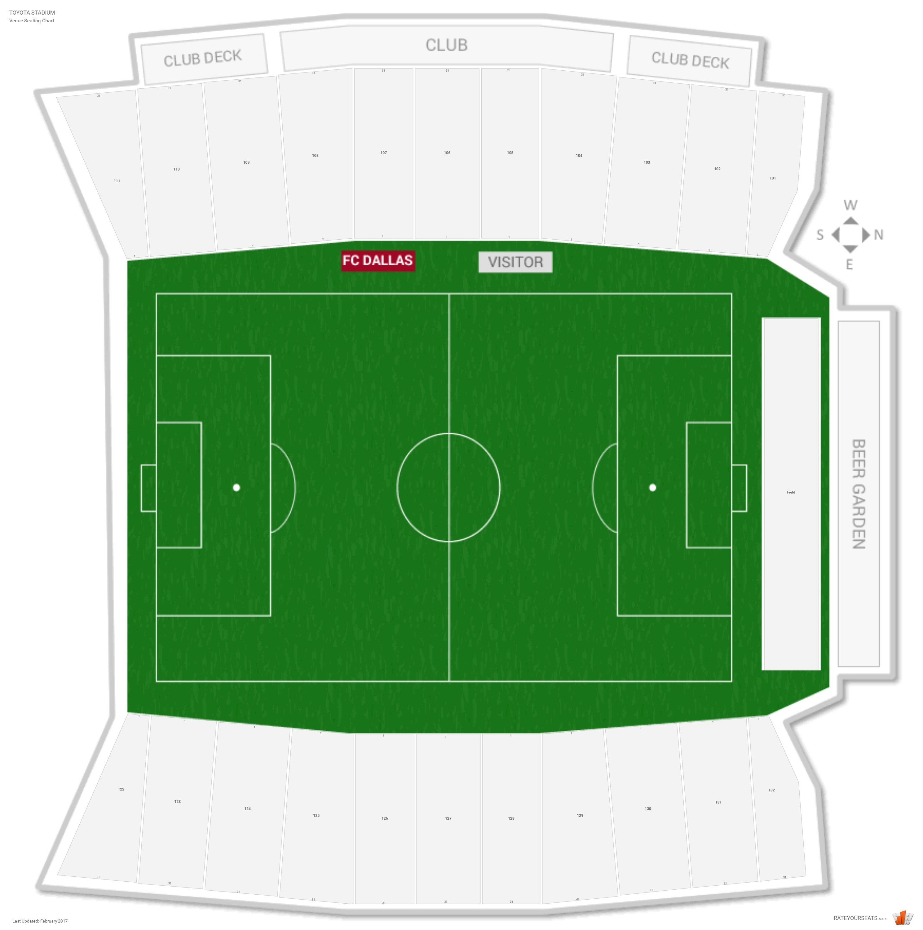 Toyota Stadium Seating Chart With Row Numbers