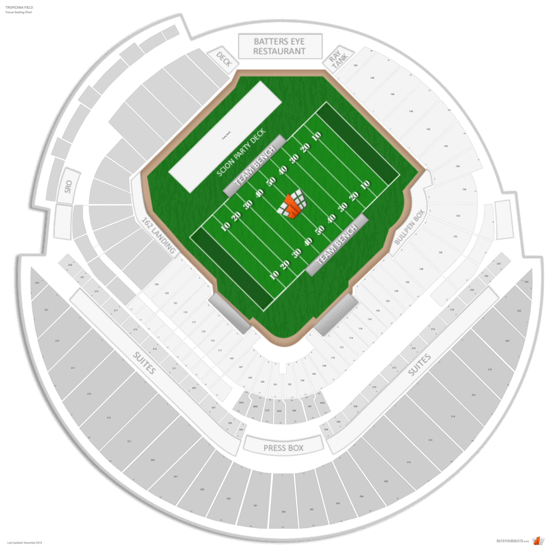Tropicana Field Football Seating