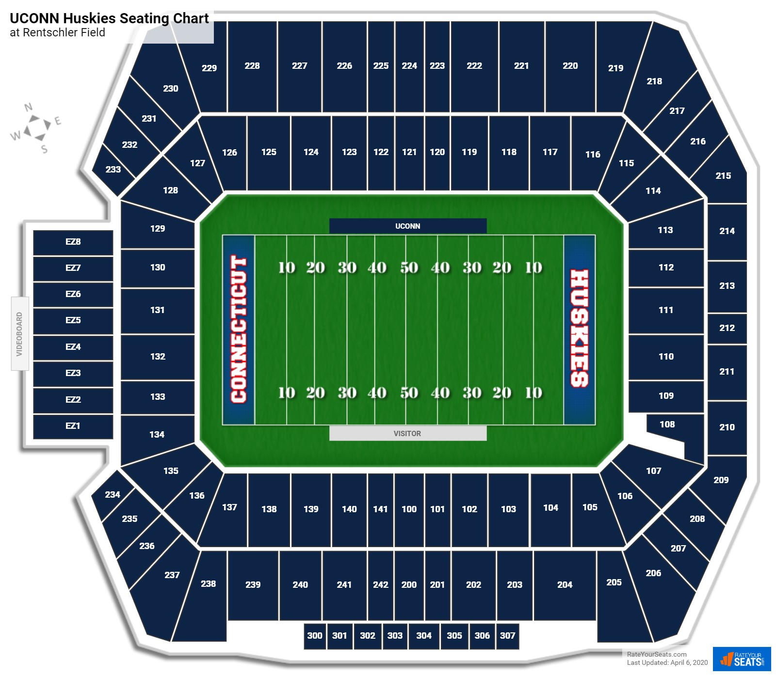 UCONN Football Seating Chart