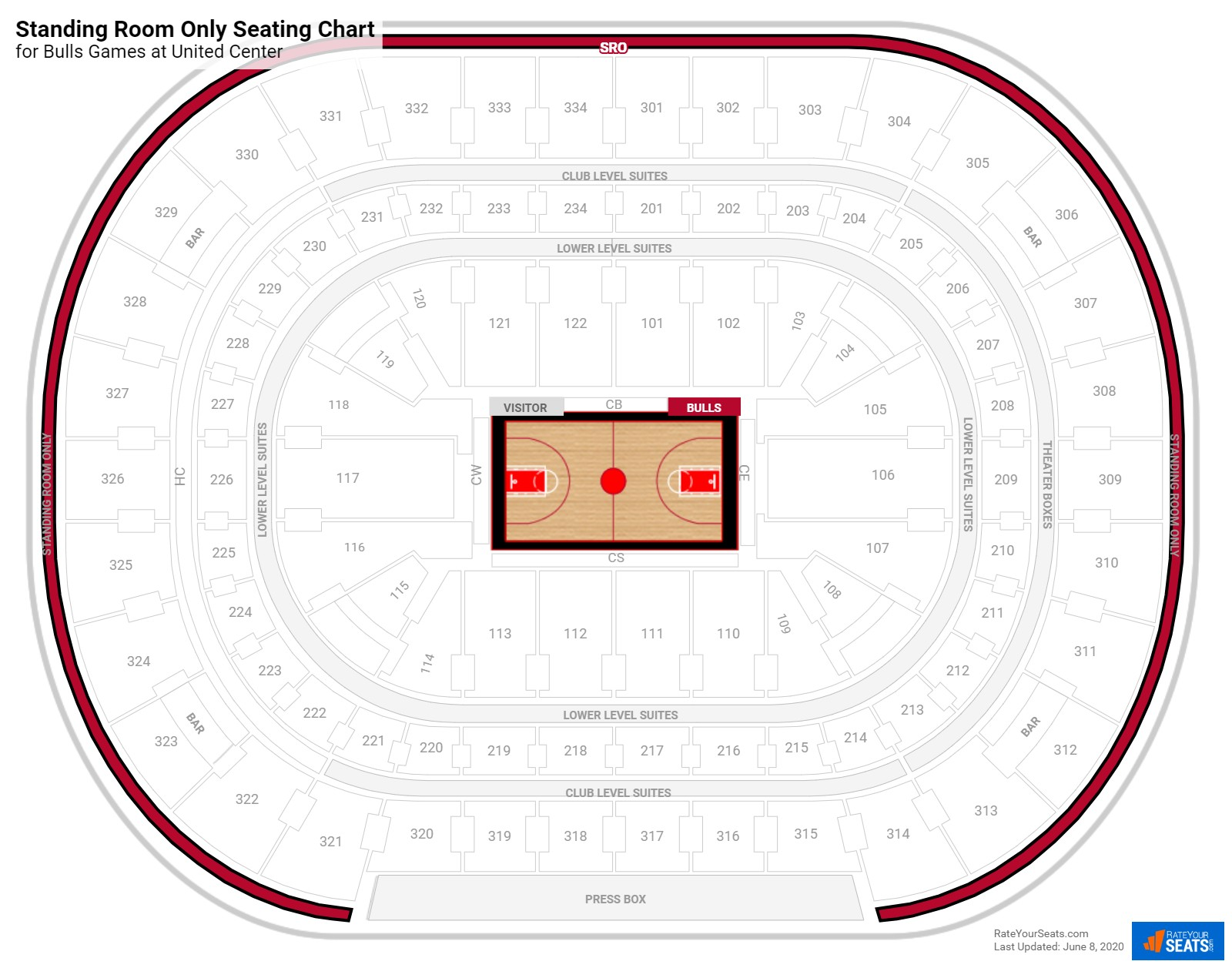 United Center Standing Room Only seating chart