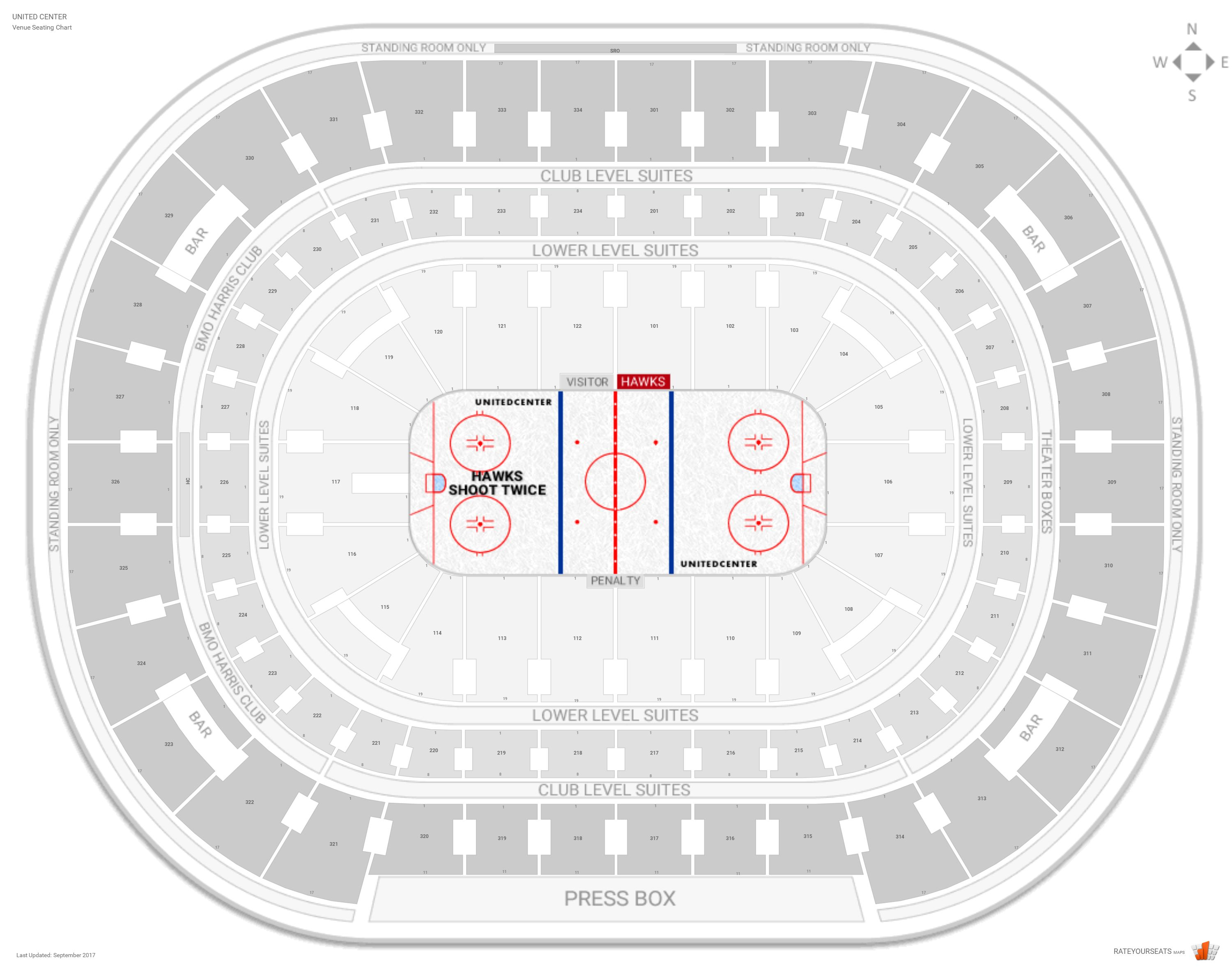 Chicago blackhawks seating guide united center rateyourseats com