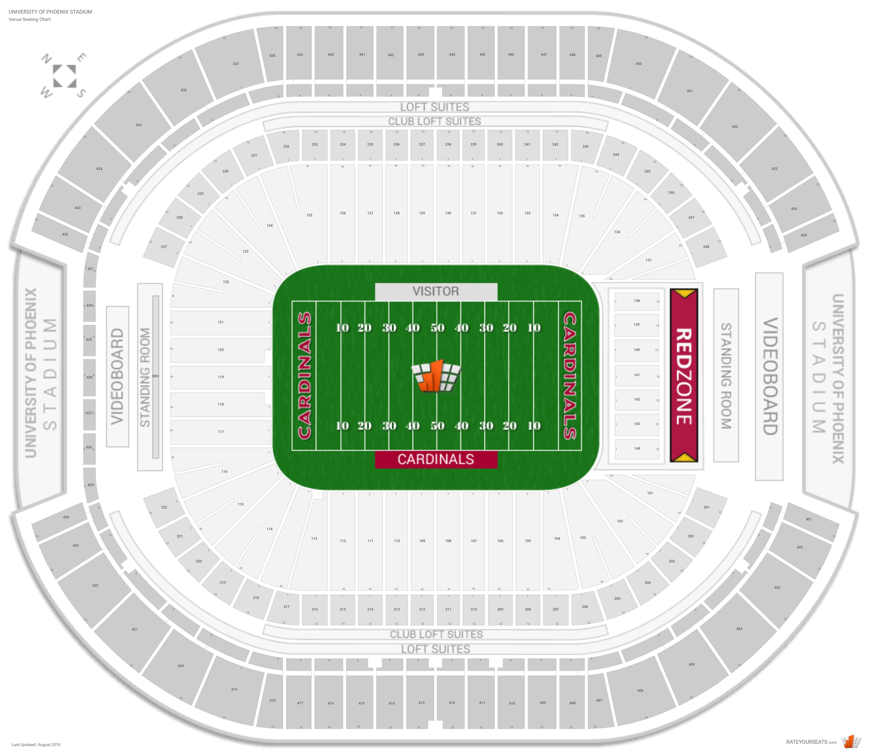 University Of Phoenix Stadium Seat Map | Brokeasshome.com