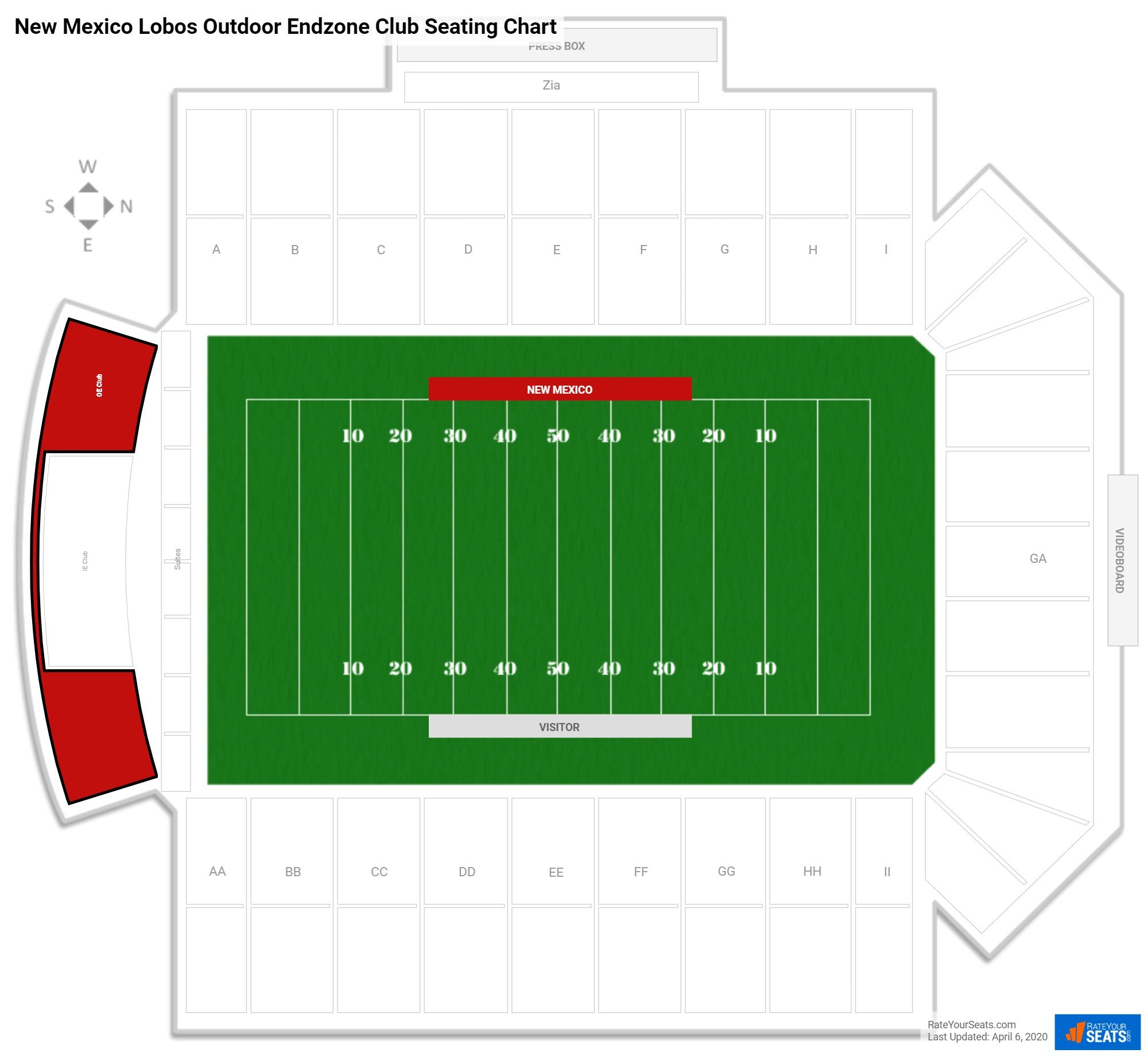 University Stadium  seating chart
