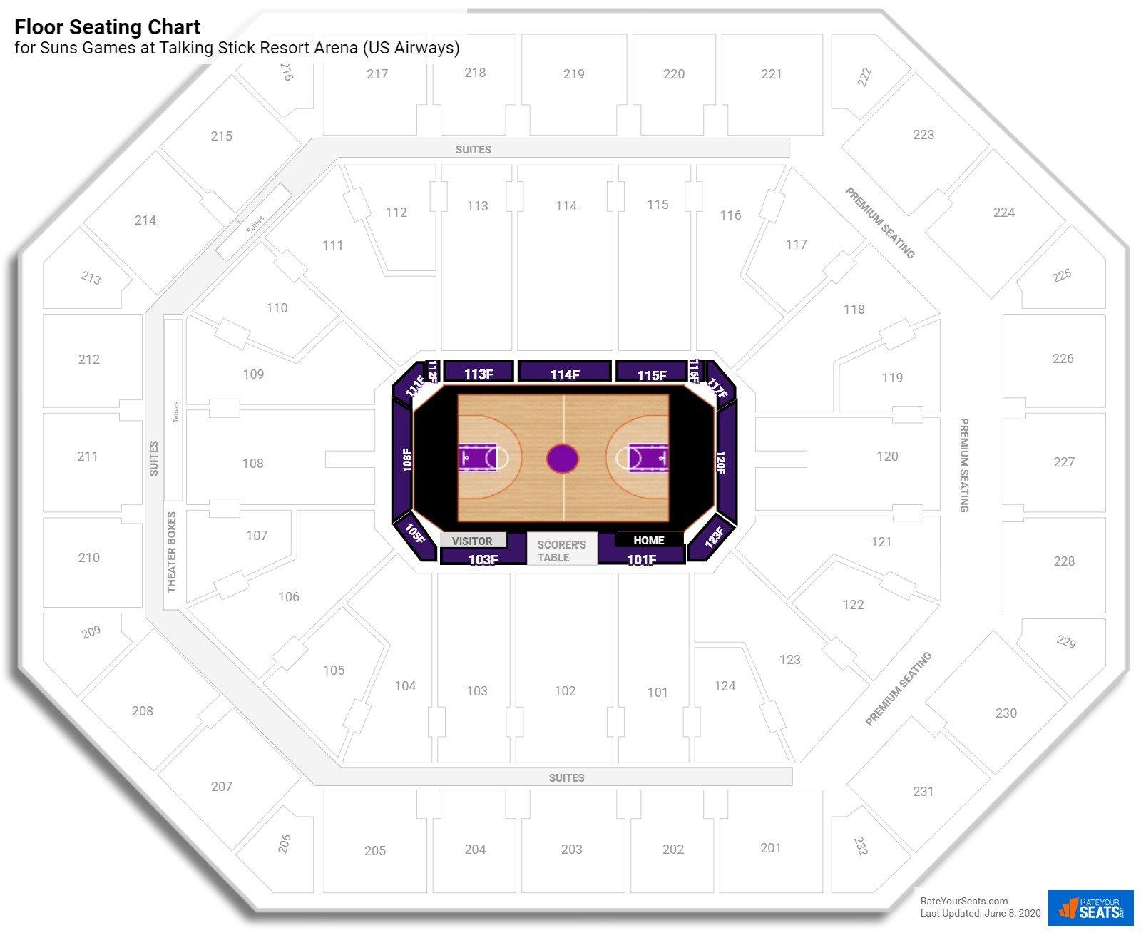 Floor Talking Stick Resort Arena Basketball Seating