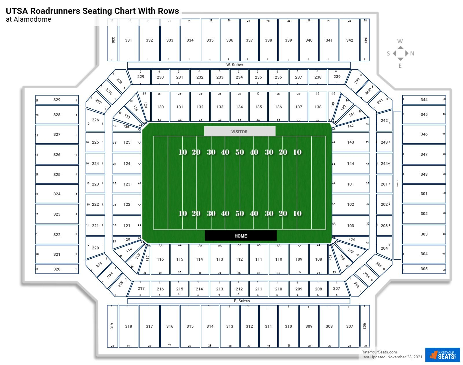 Alamodome seating chart with rows football