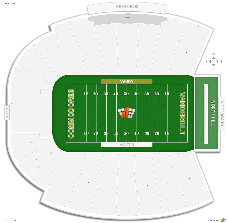 vanderbilt football seating chart