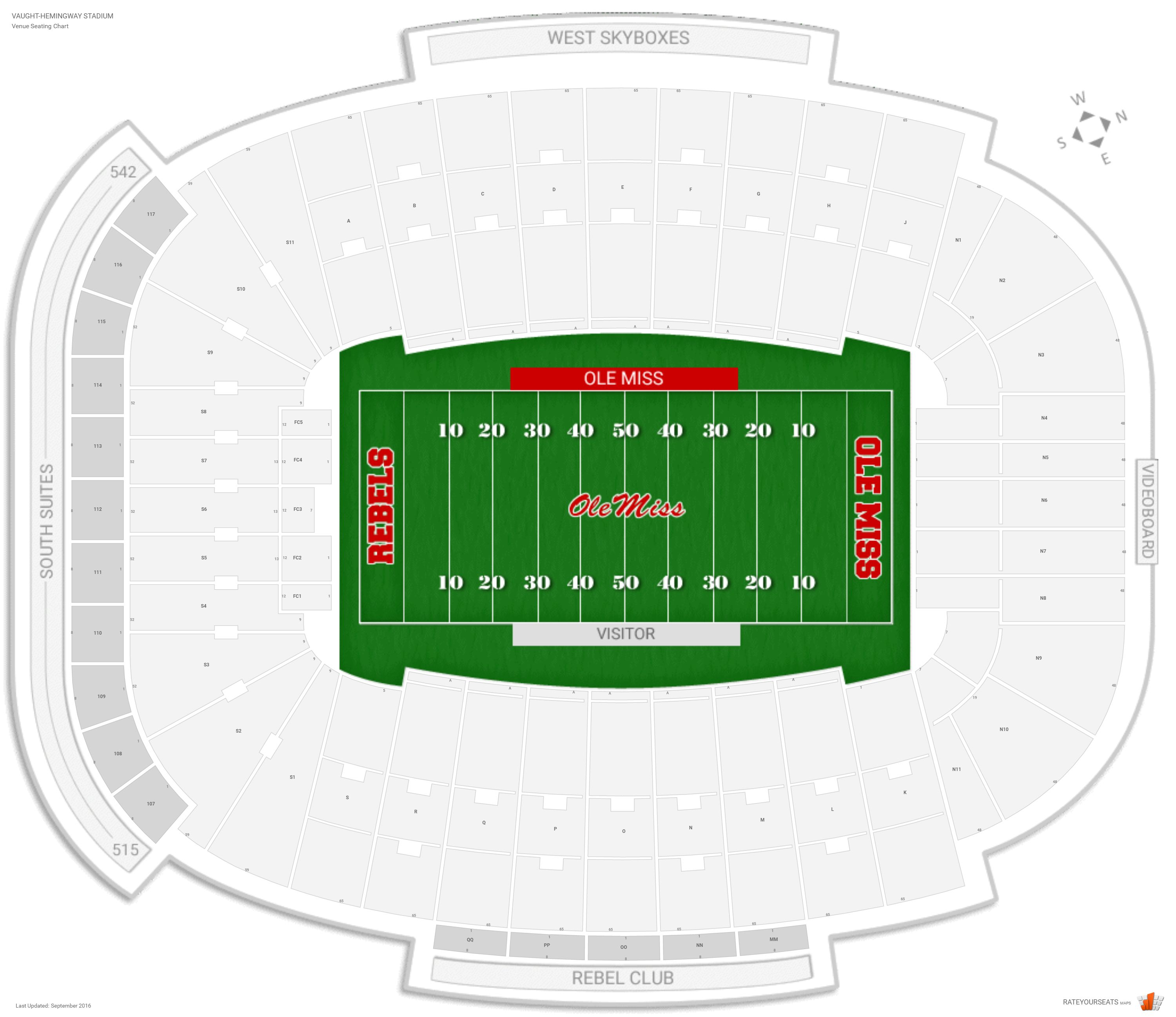 Vaught hemingway stadium ole miss seating guide rateyourseats com