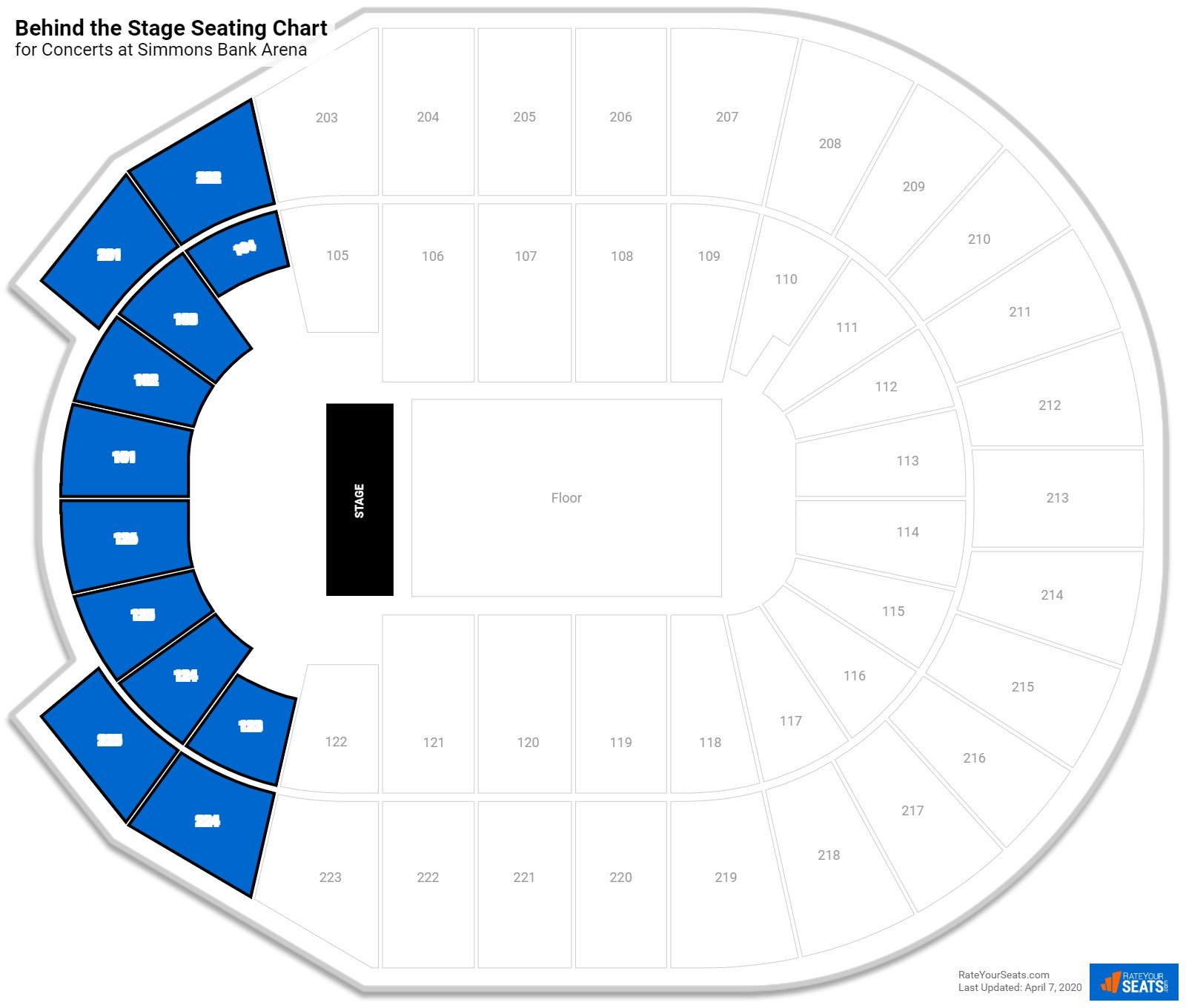Verizon Arena Behind The Stage Seating Chart