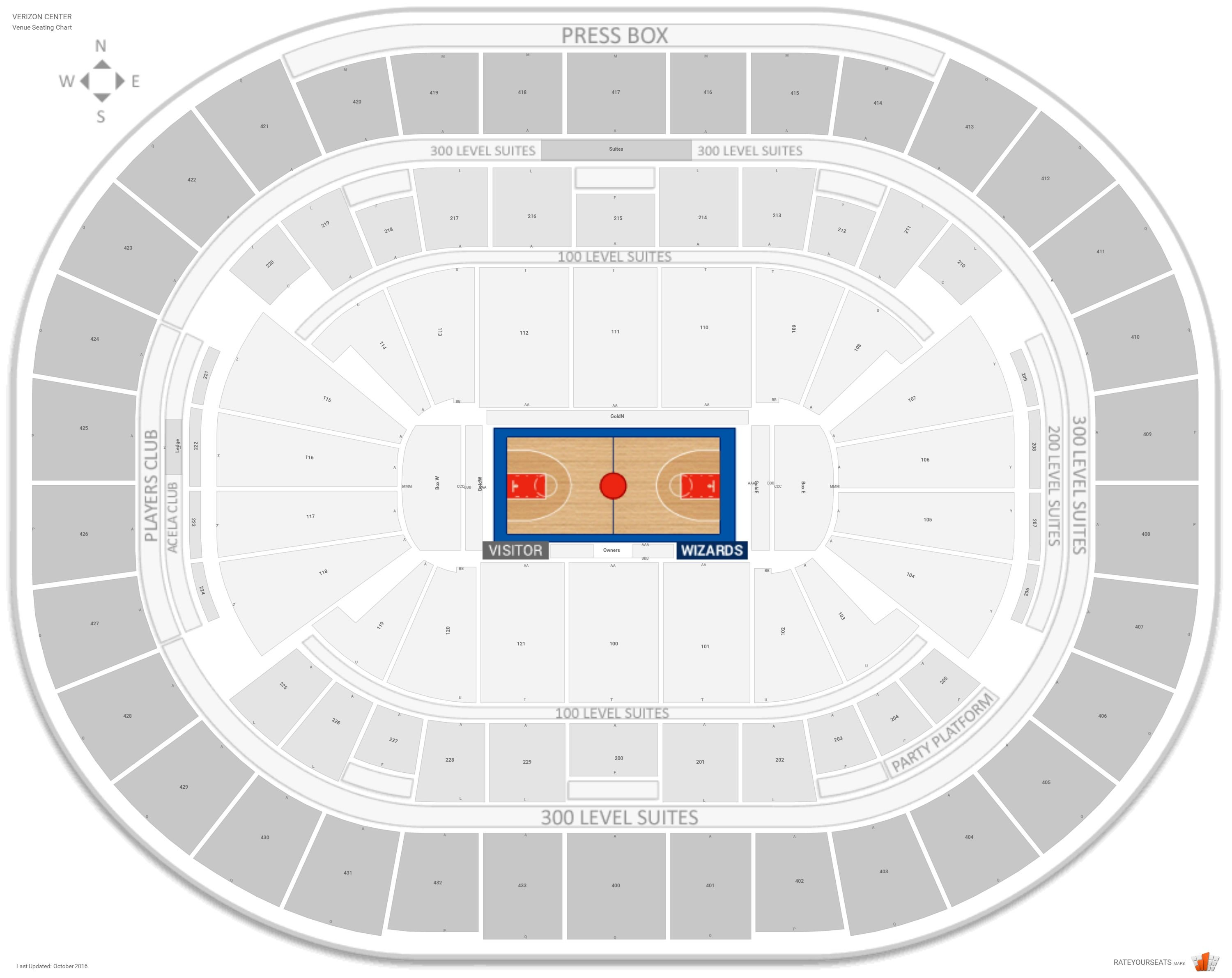 Washington wizards seating guide capital one arena