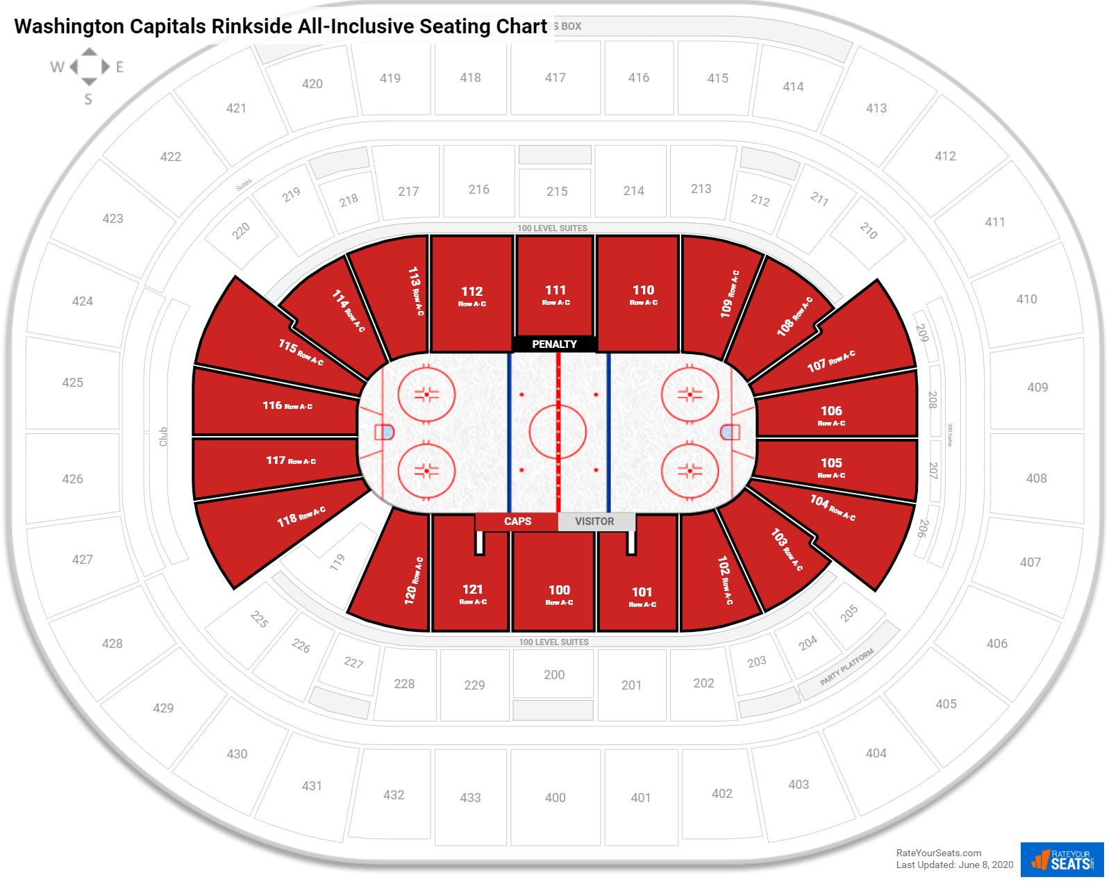 What Rows Have Free Food At The Verizon Center
