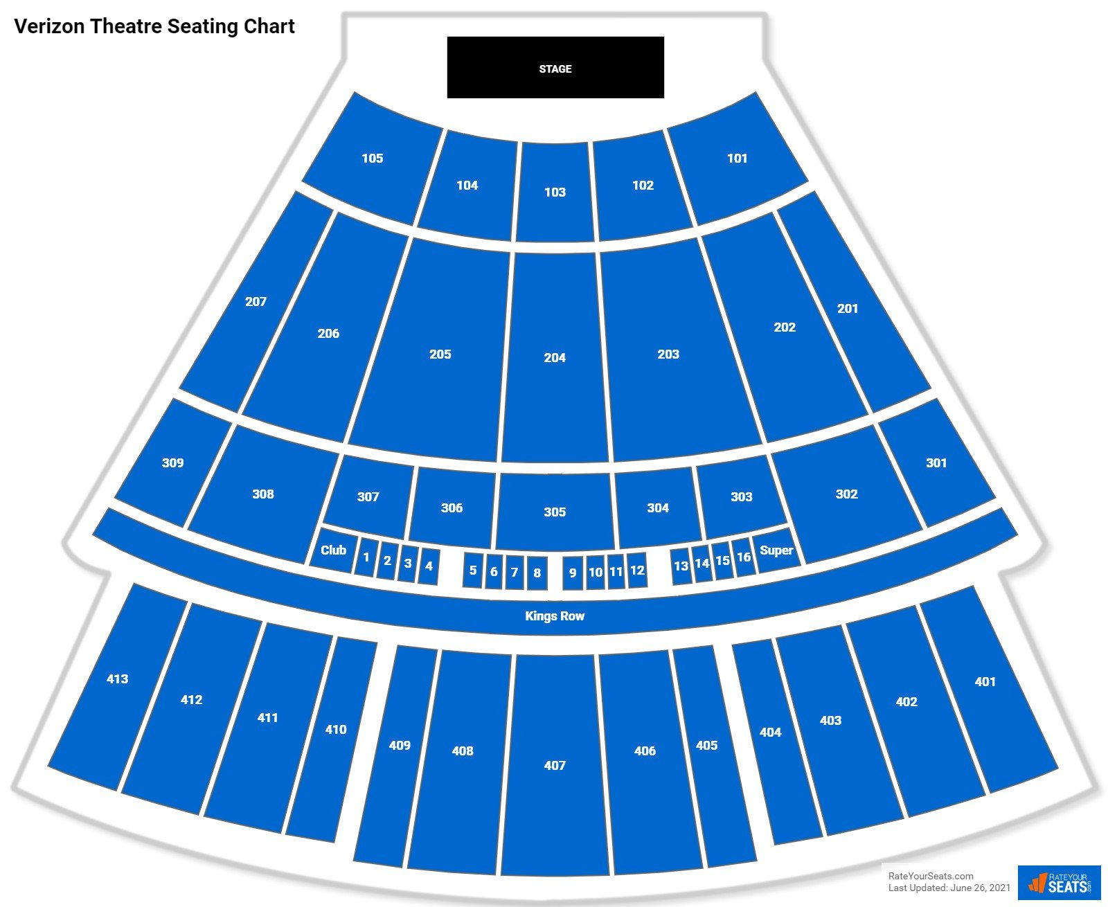 Verizon Theatre Seating Chart