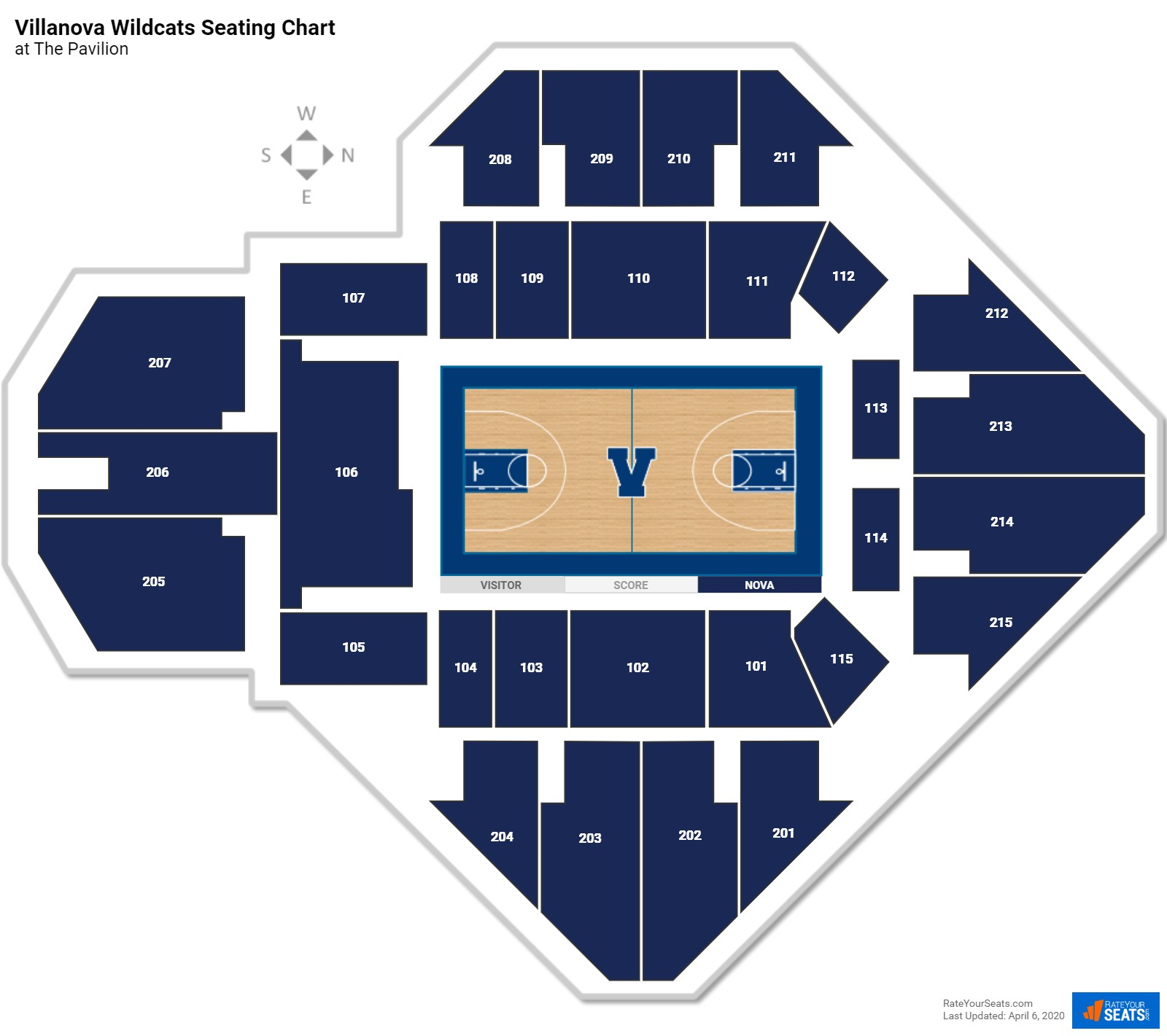 Villanova Basketball Seating Chart