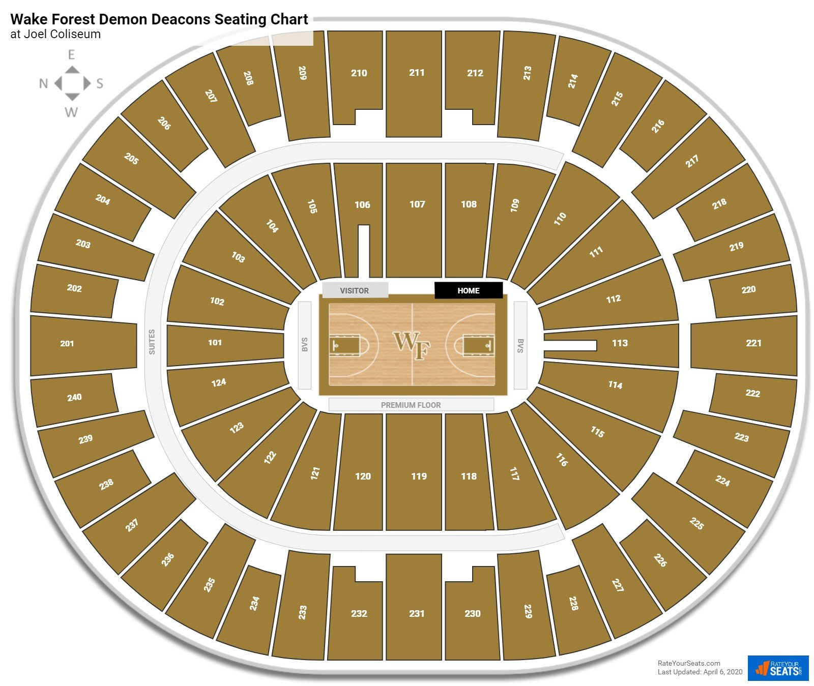 Wake Forest Basketball Seating Chart