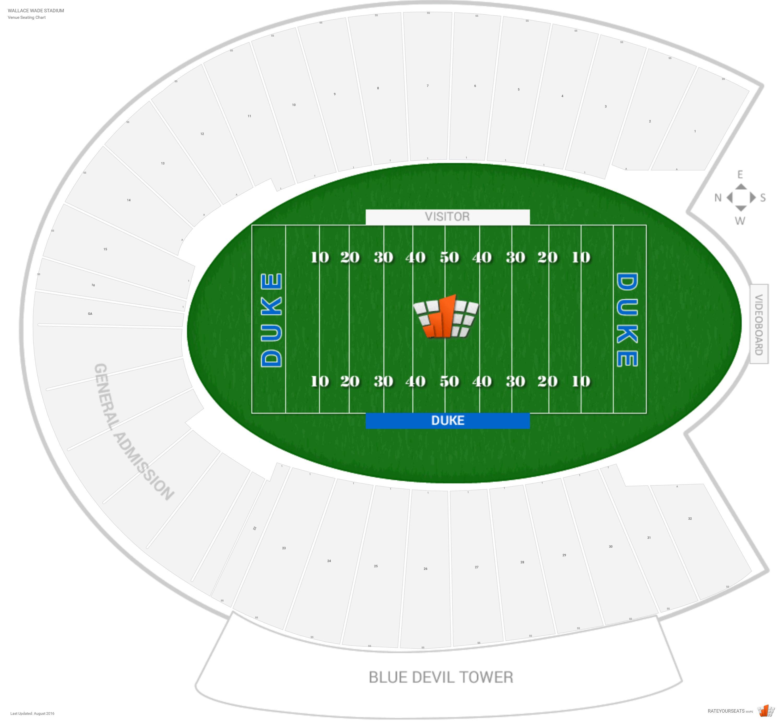 Wallace Wade Stadium Duke Seating Guide Rateyourseatscom