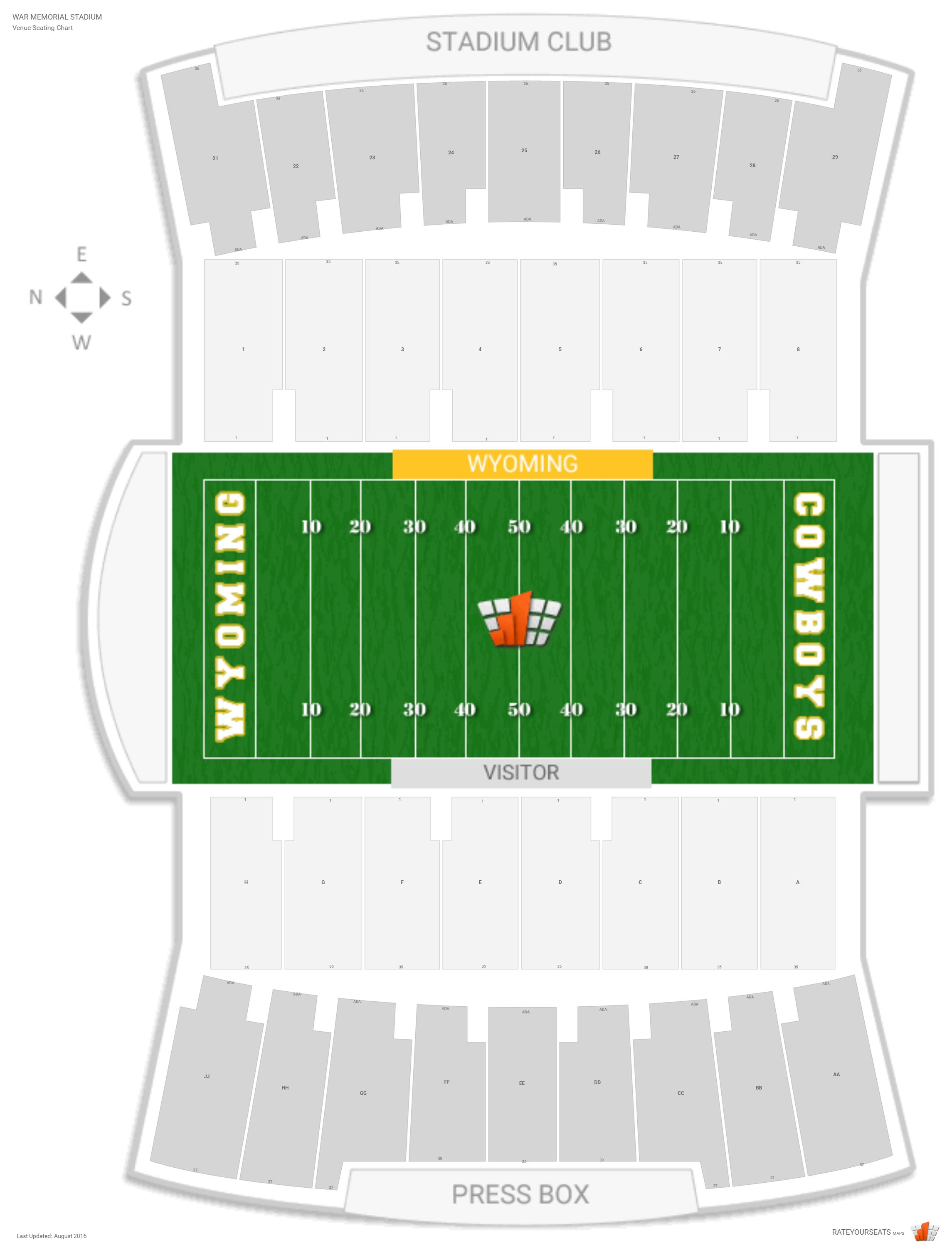 War Memorial Stadium Wyoming Seating Guide