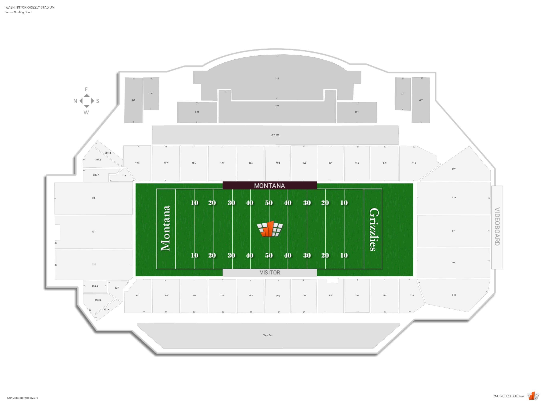 Washington Grizzly Stadium Montana Seating Guide Rateyourseatscom