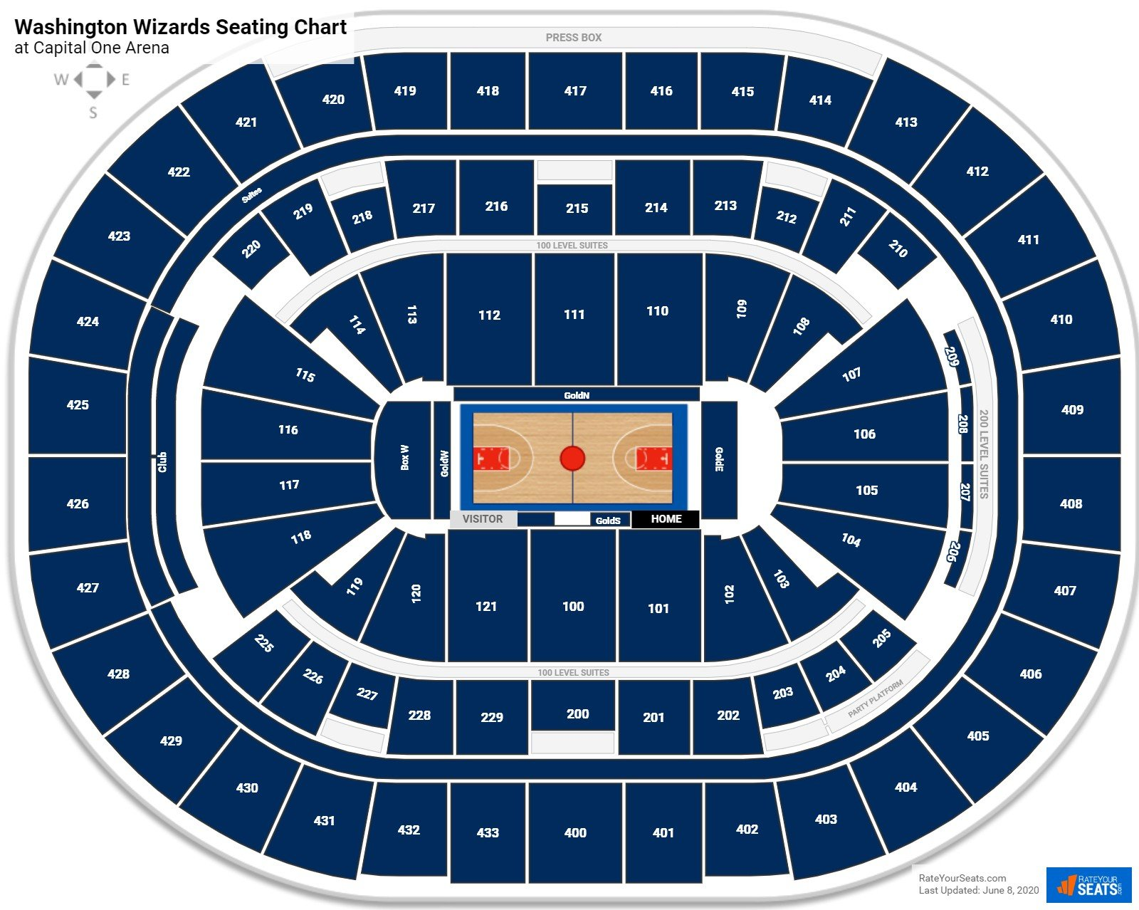 Wizards Georgetown Seating Charts At Capital One Arena Rateyourseats Com