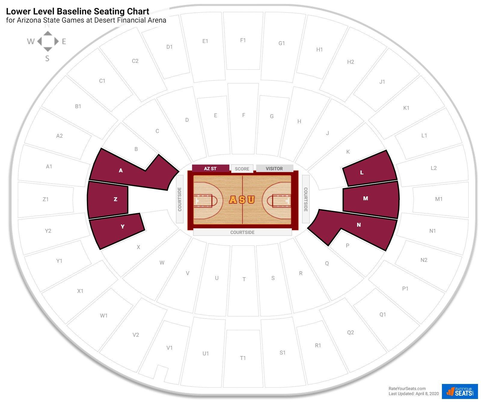 Wells Fargo Arena Arizona State Seating Guide