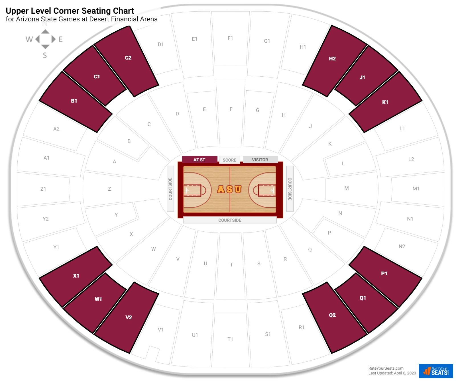 Wells Fargo Arena Upper Level Corner Seating Chart