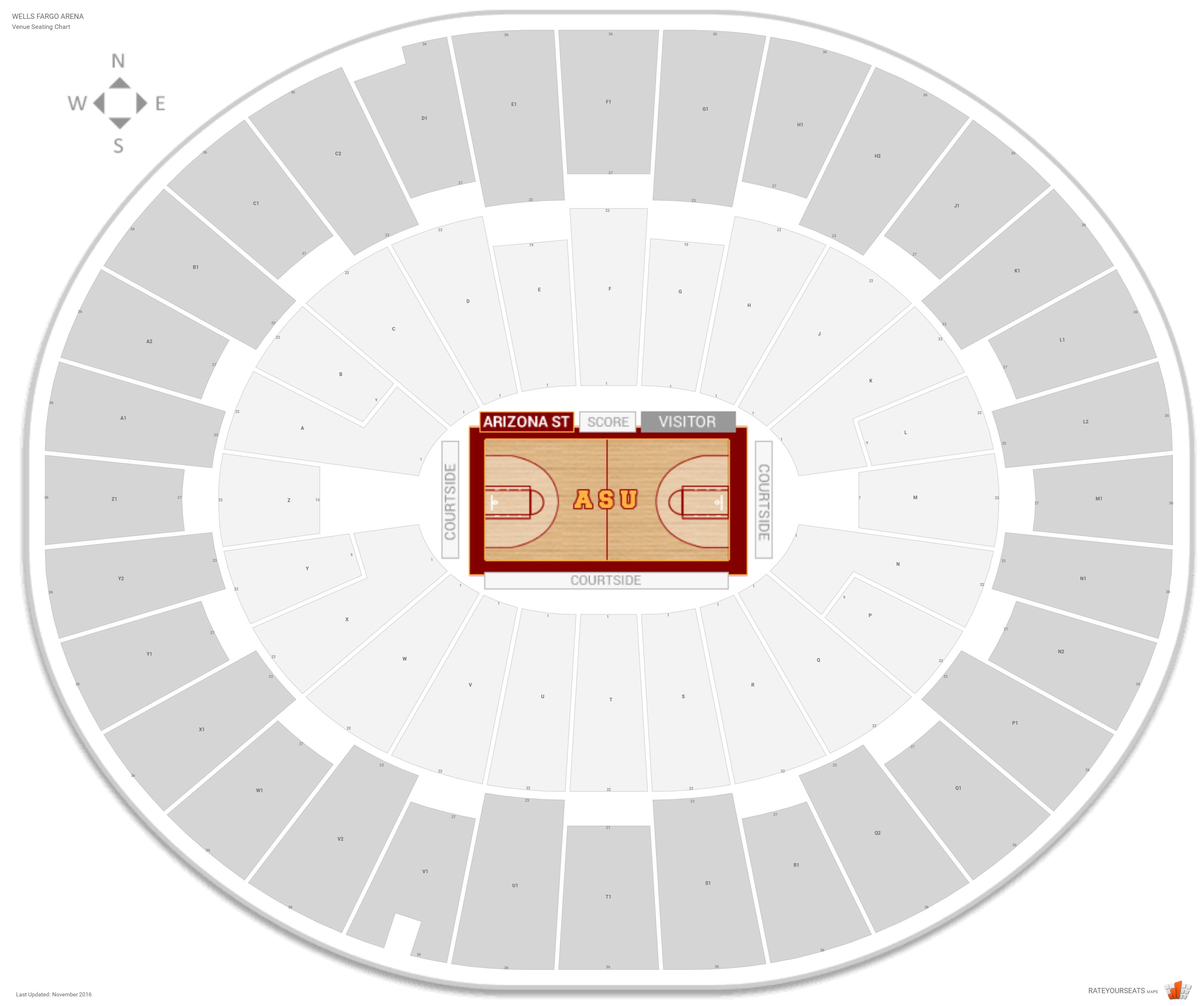 Wells Fargo Arena Seating Chart With Row Numbers