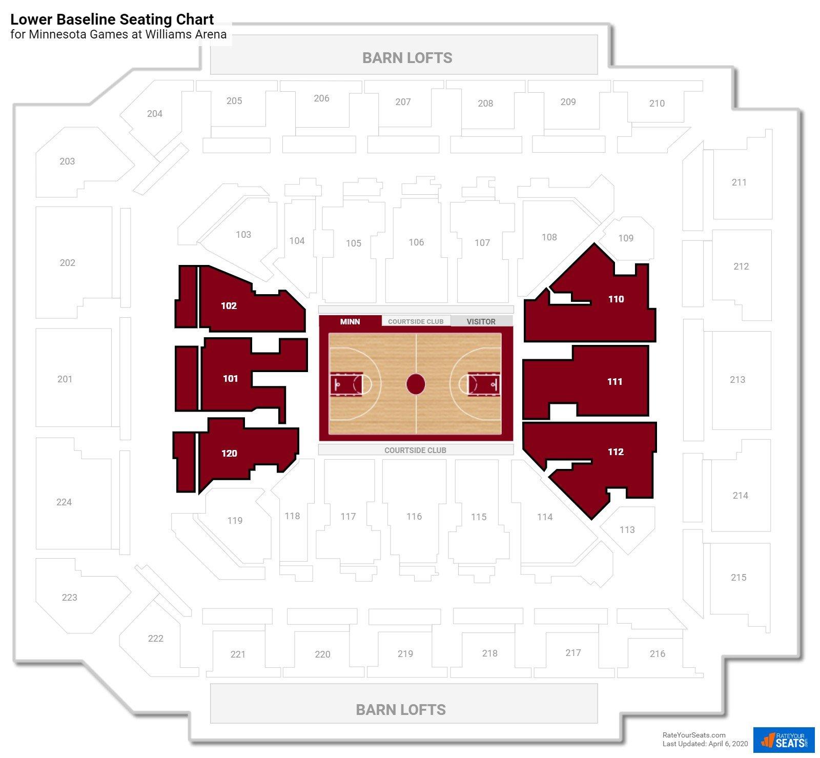University Of Minnesota Basketball Seating Chart