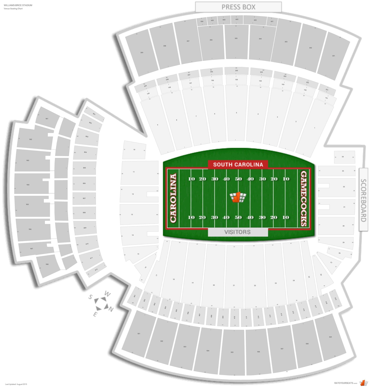 Williams brice stadium south carolina seating guide