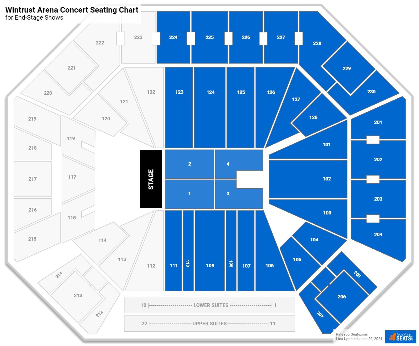 Wintrust Arena Seating Chart for Concerts