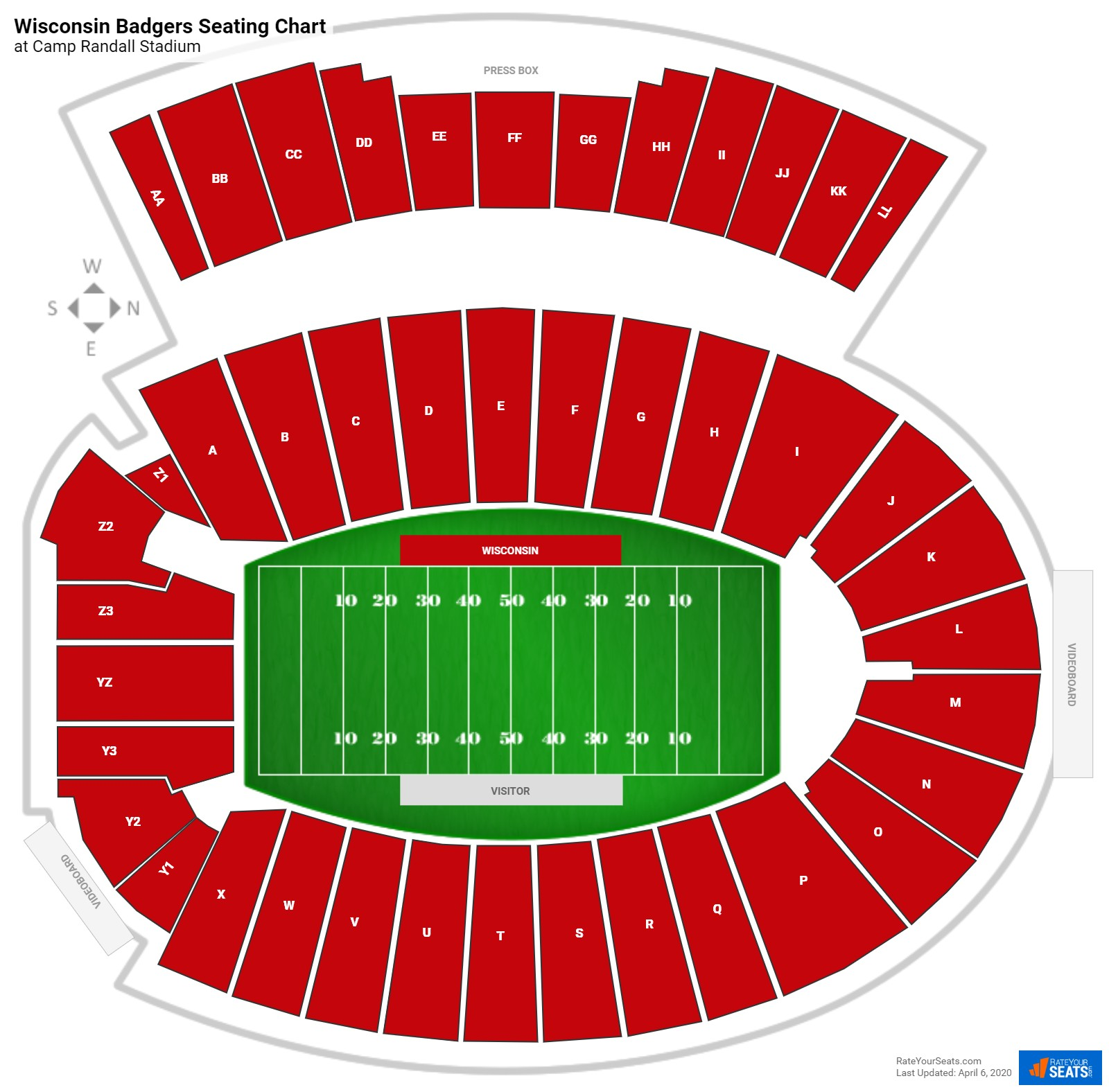 Wisconsin Football Seating Chart